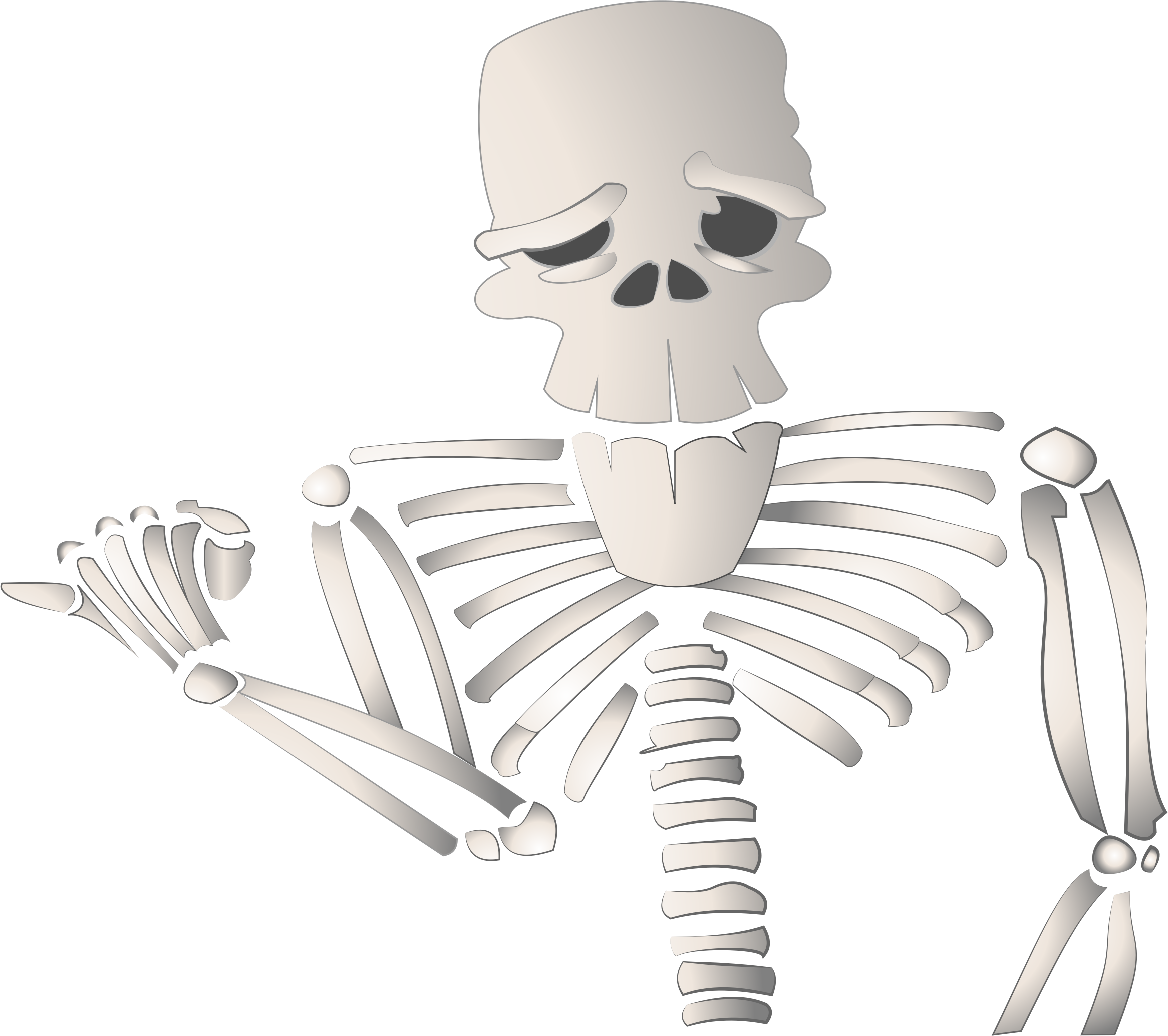 Cartoon Skeleton by GDJ