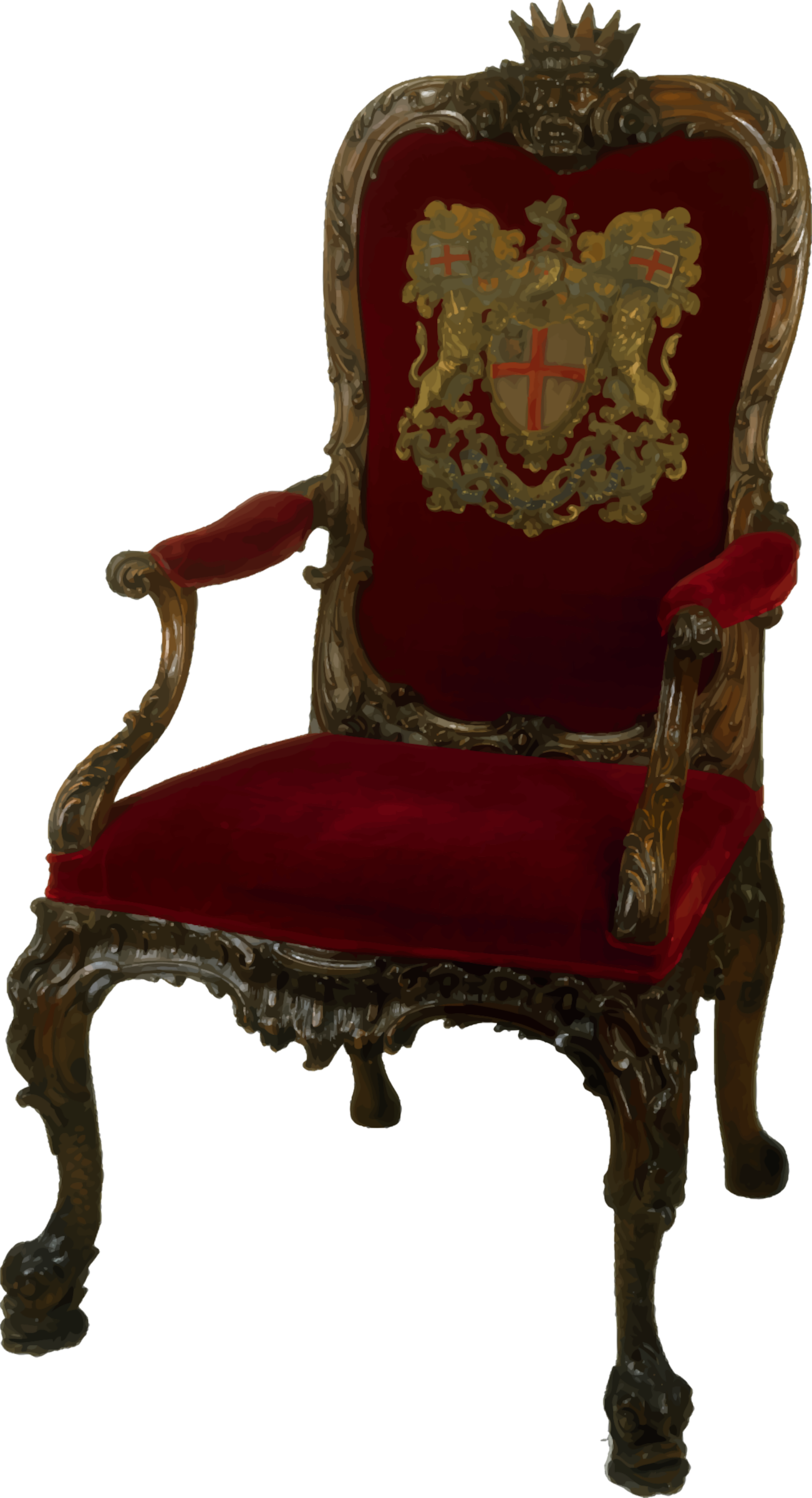Clipart Ornate Walnut Chair