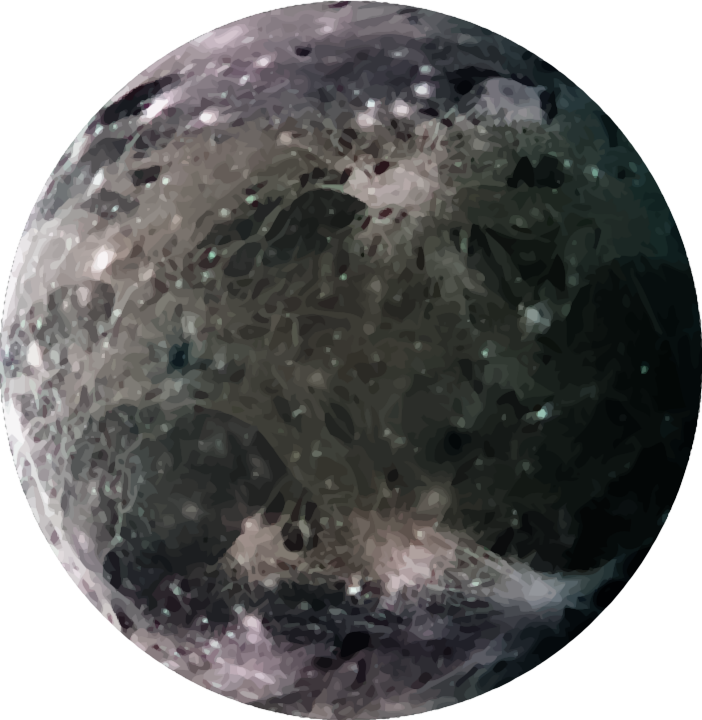 Jupiter's moon Ganymede by Firkin