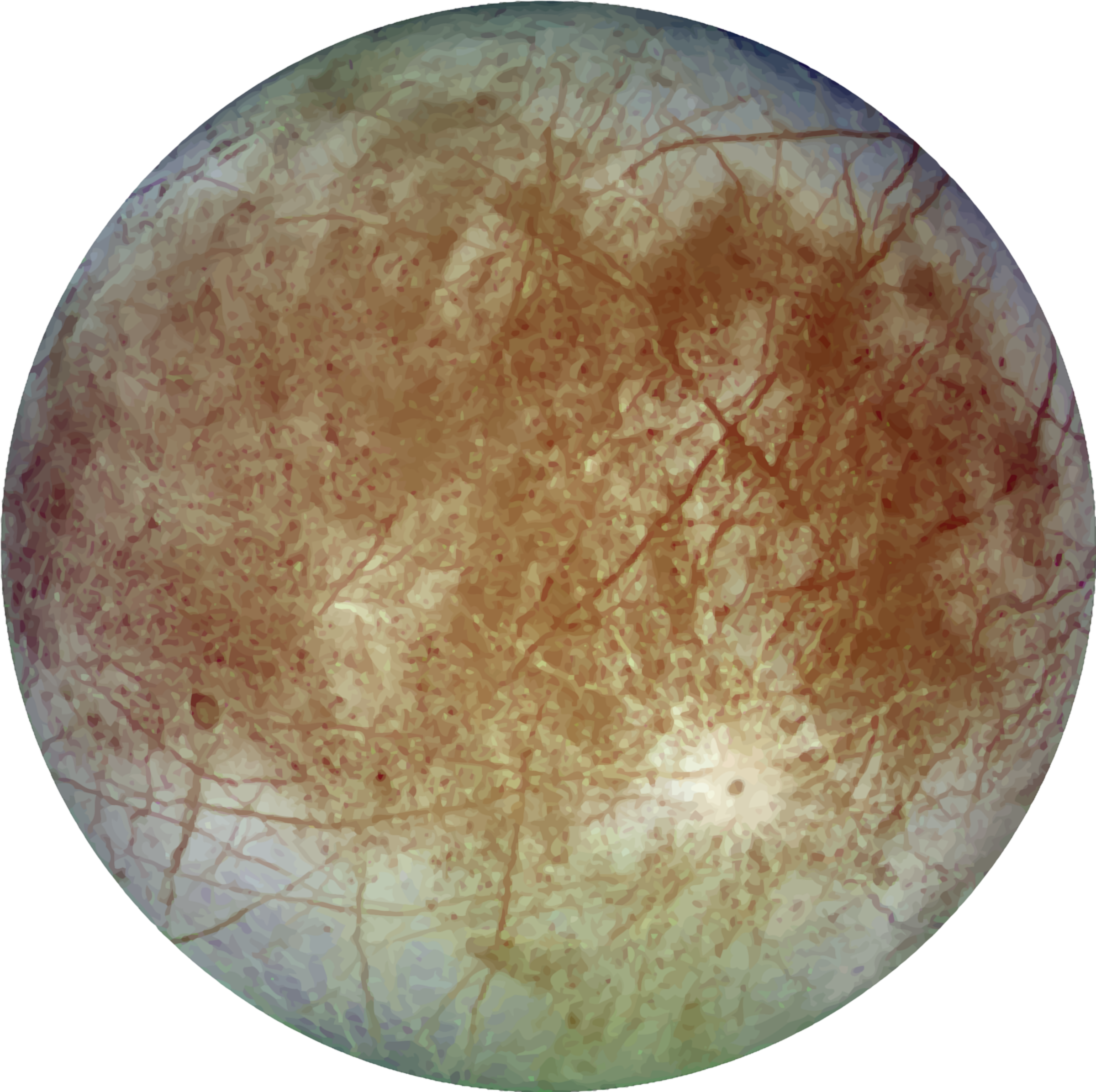 Jupiter's satellite Europa by Firkin