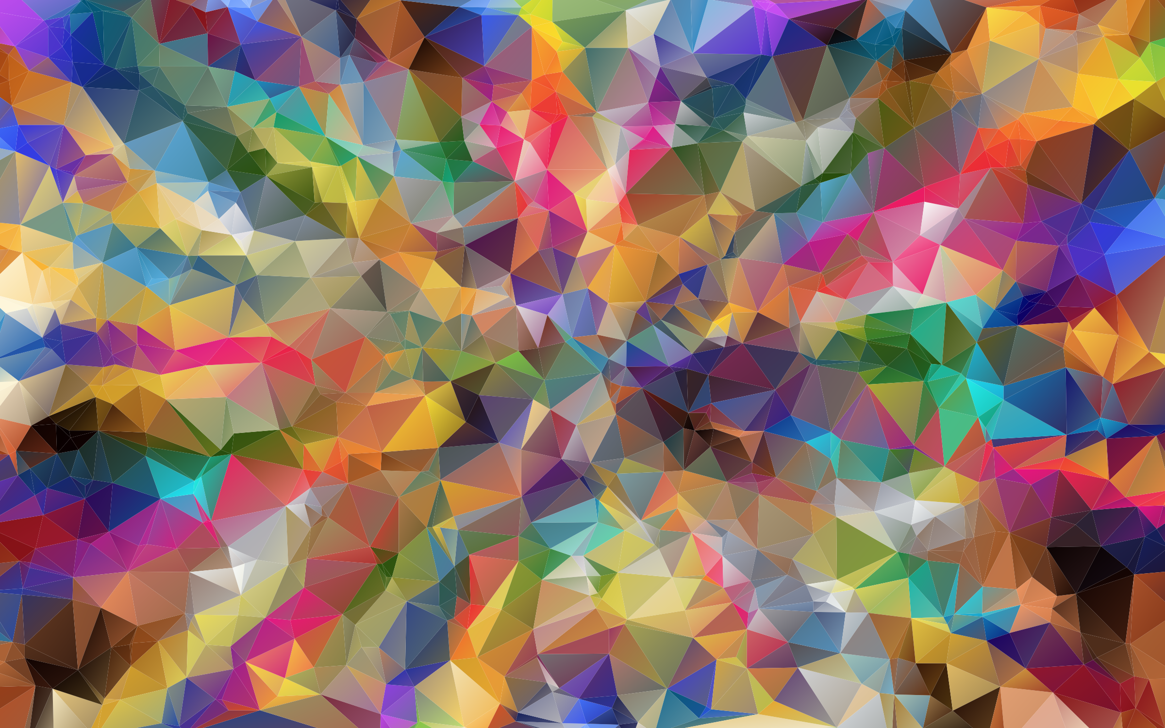 Clipart - Colorful Low Poly Wallpaper