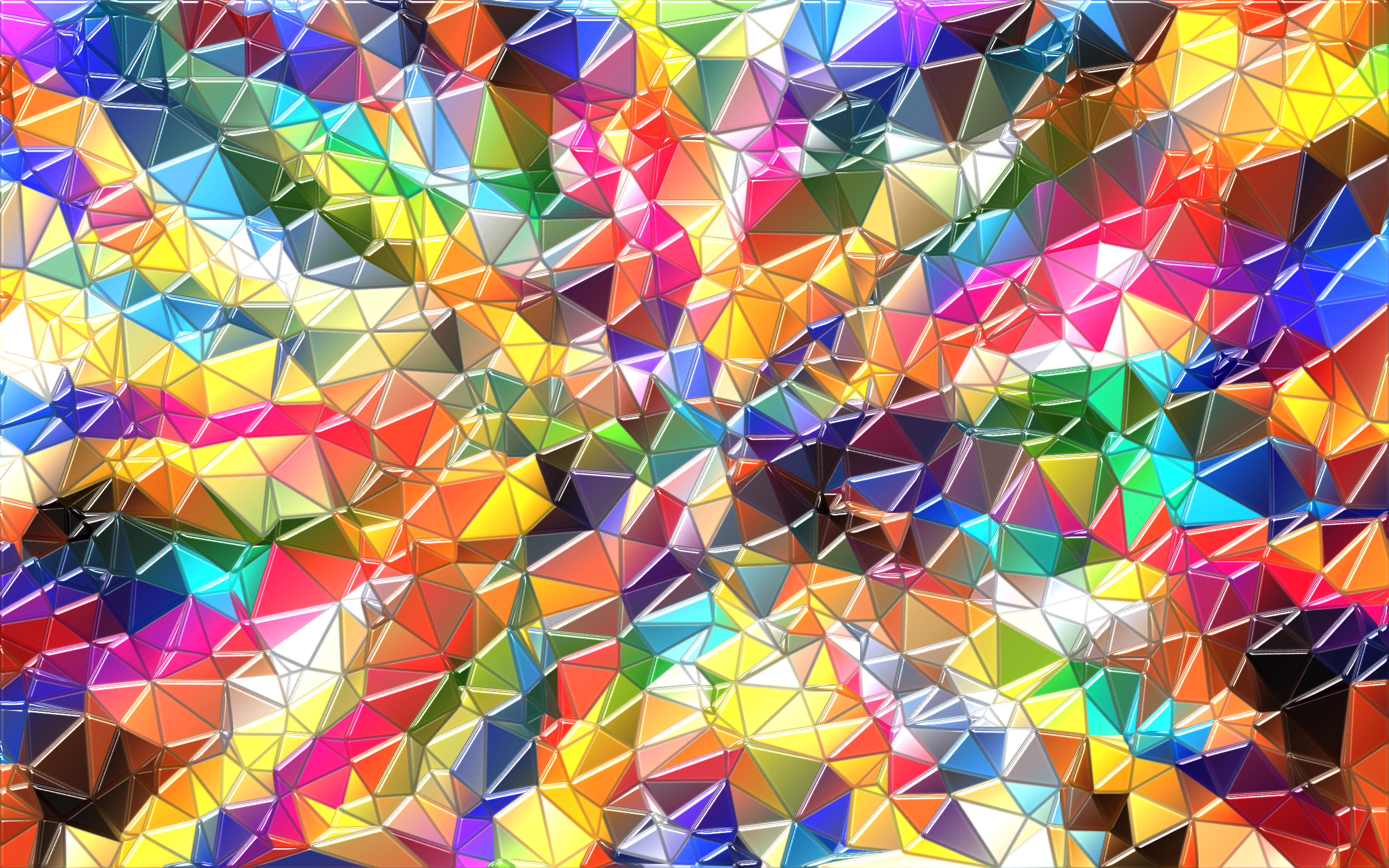 Colorful Low Poly Wallpaper Enhanced by GDJ