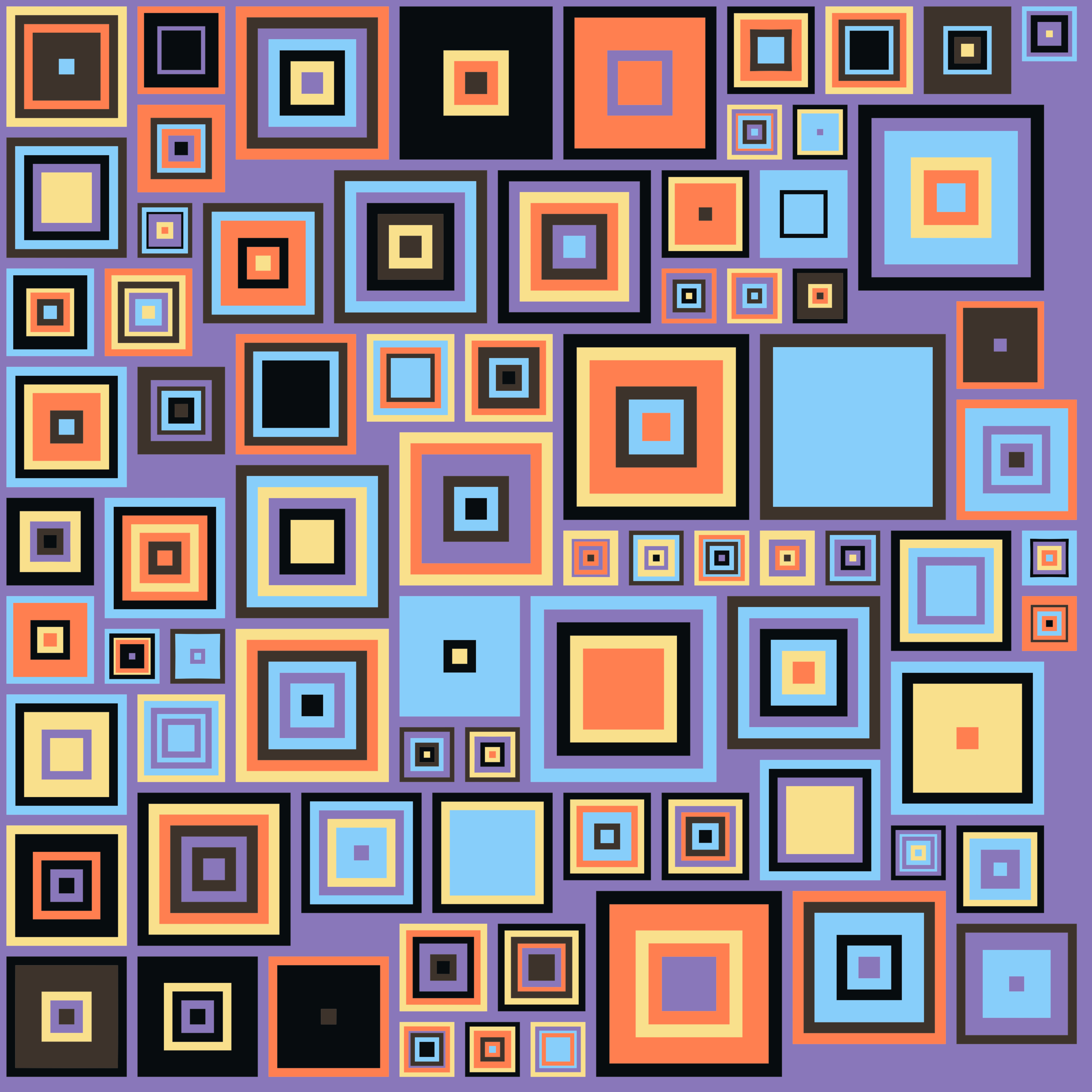 Abstract Colorful Squares by GDJ