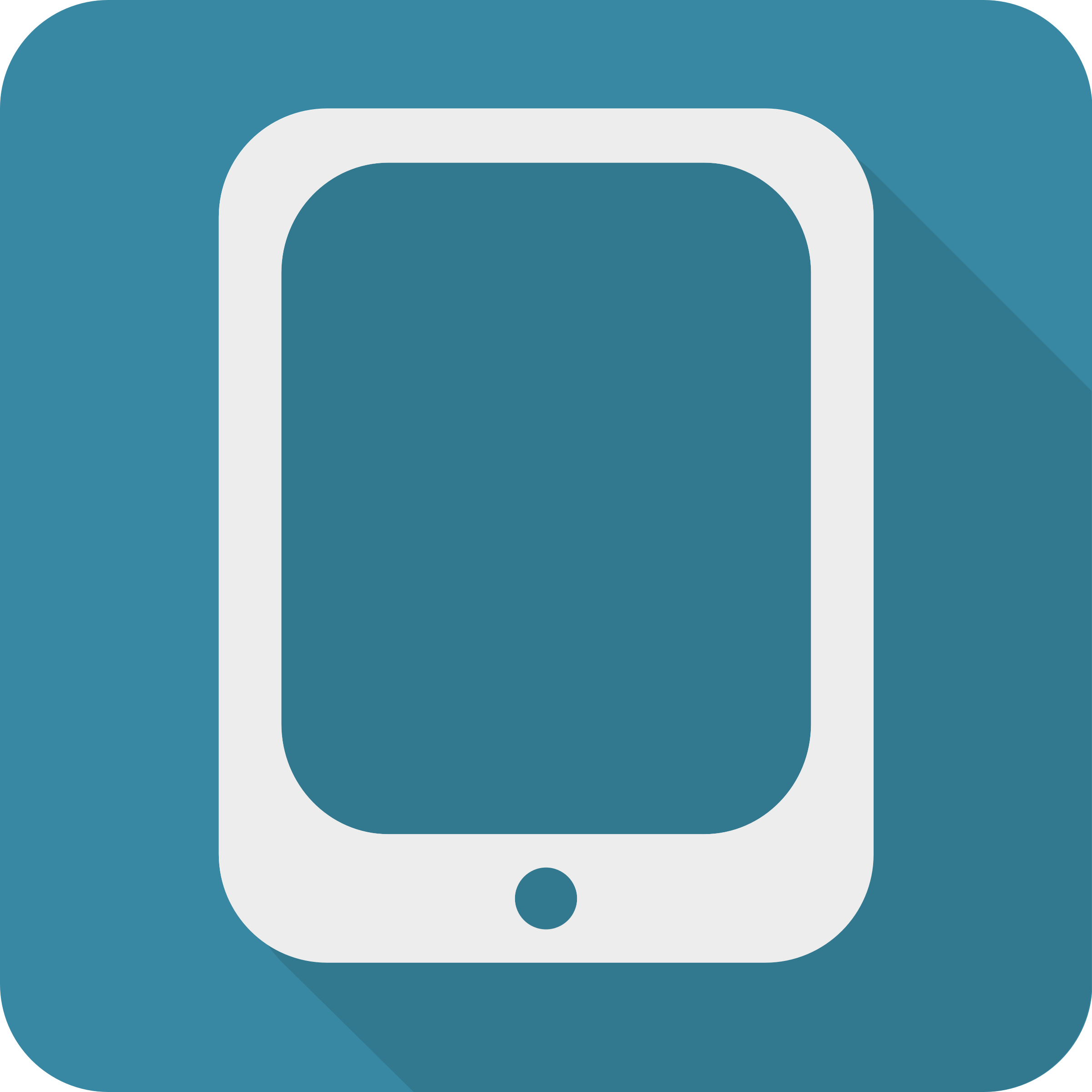 Clipart Shadowed Modern Minimalist Mobile Icon
