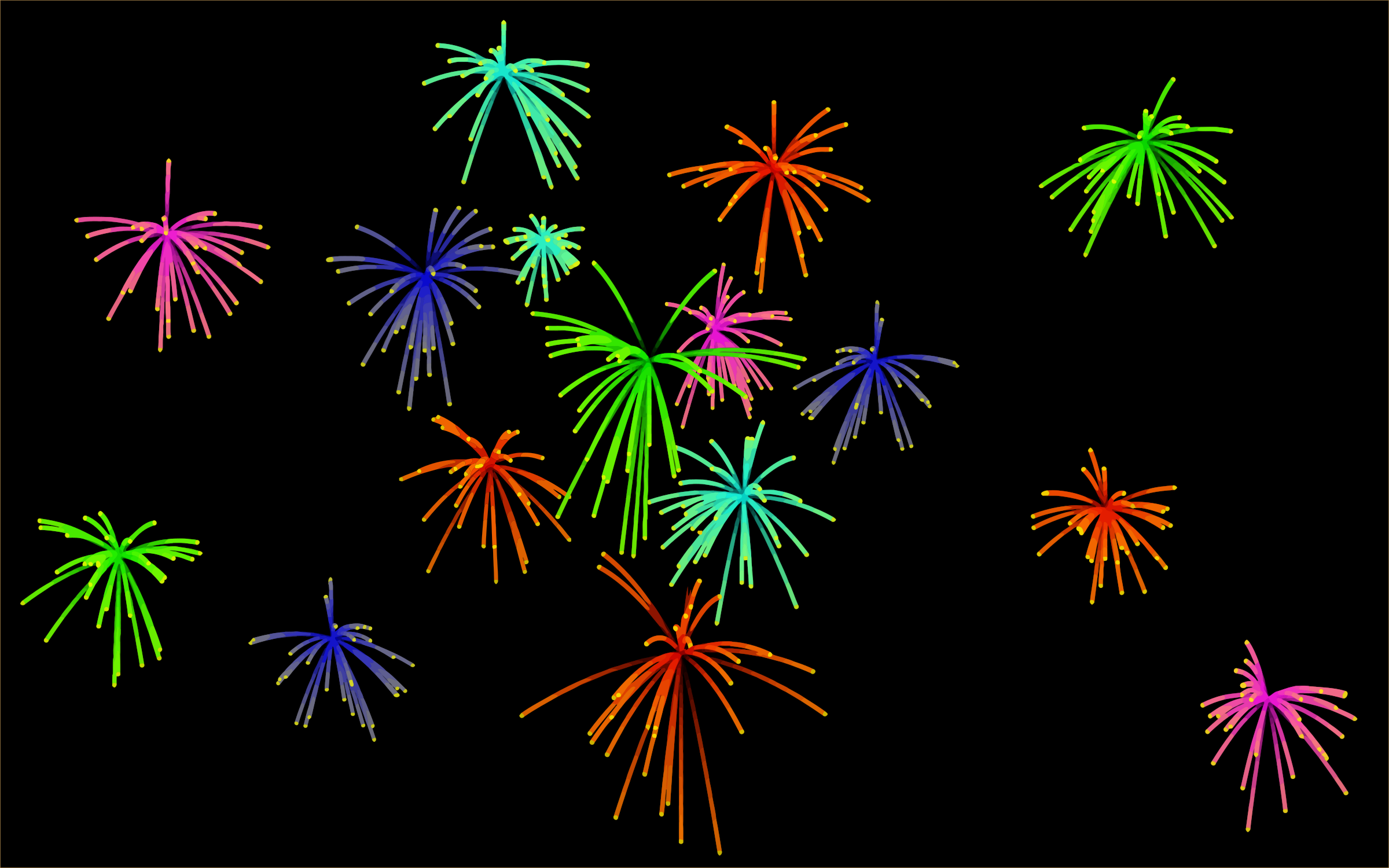 Fireworks background by Firkin