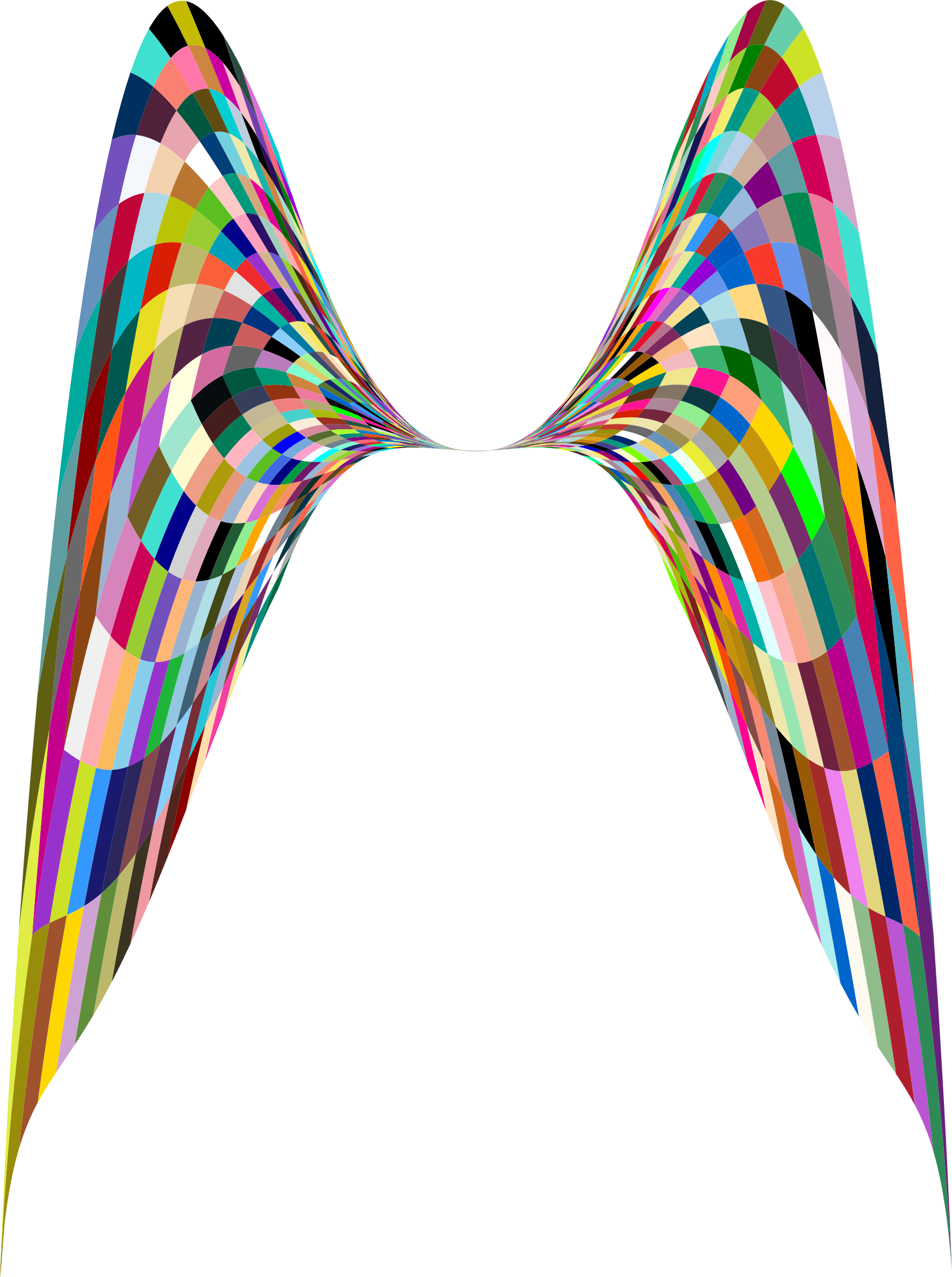 Colorful Geometric Angel Wings by GDJ
