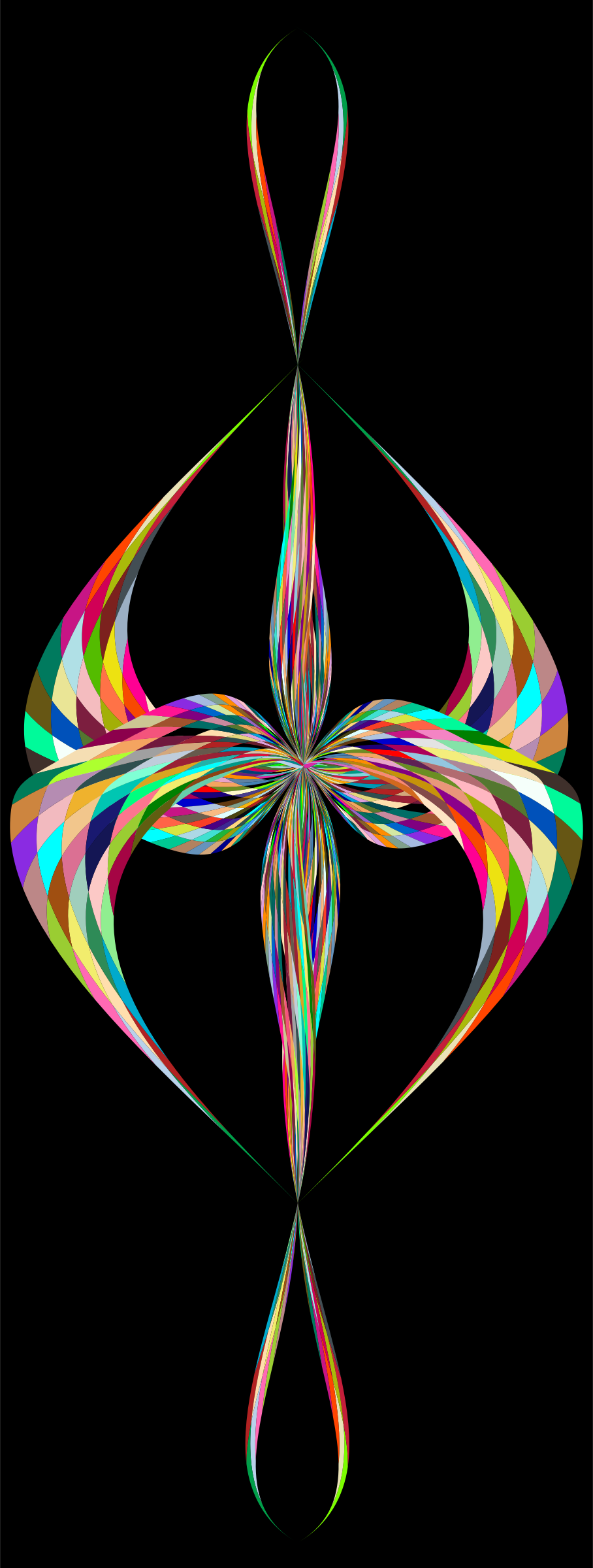 Colorful Stylized Cross 2 by GDJ