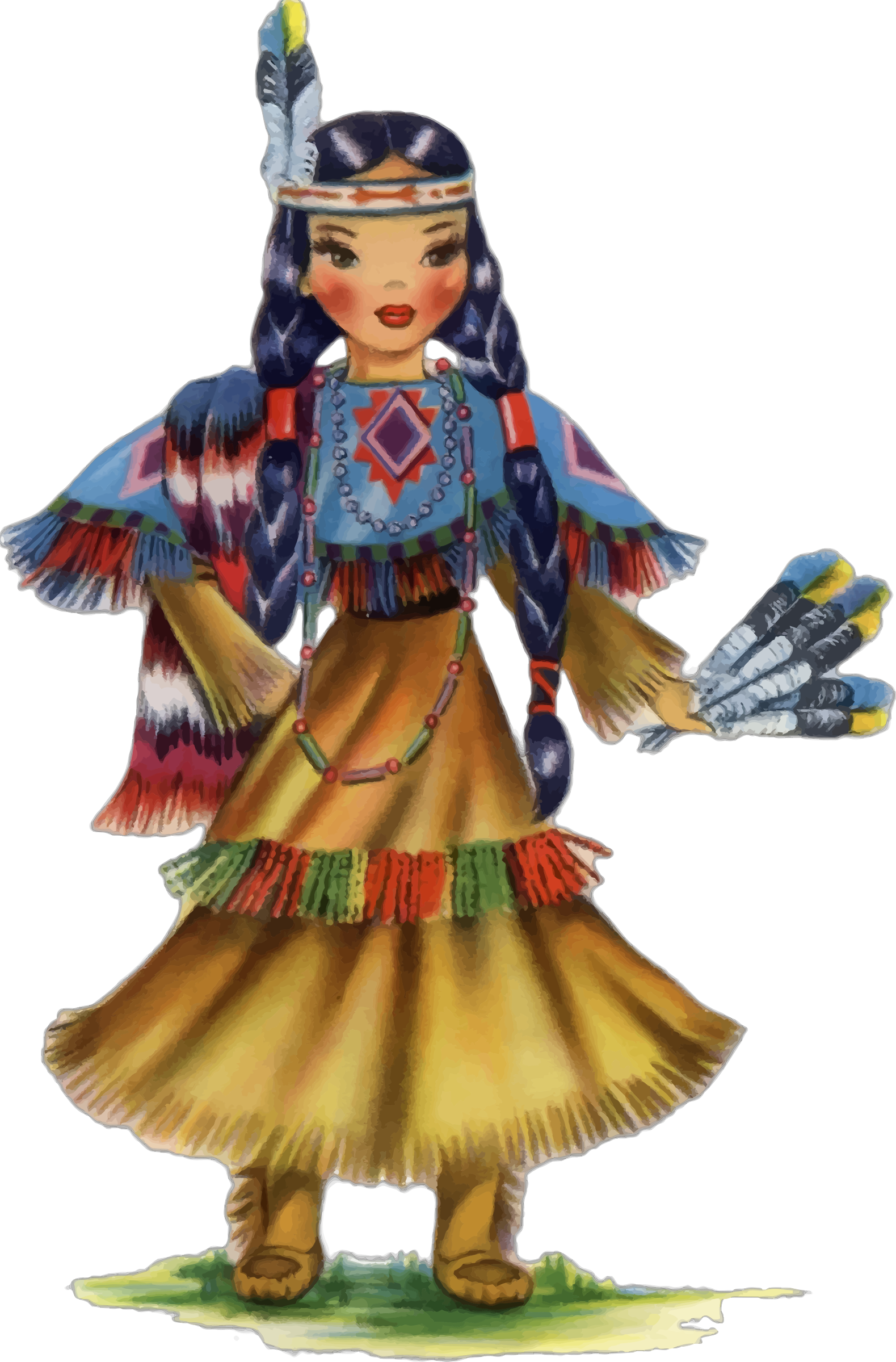 Vintage Native American Doll by GDJ