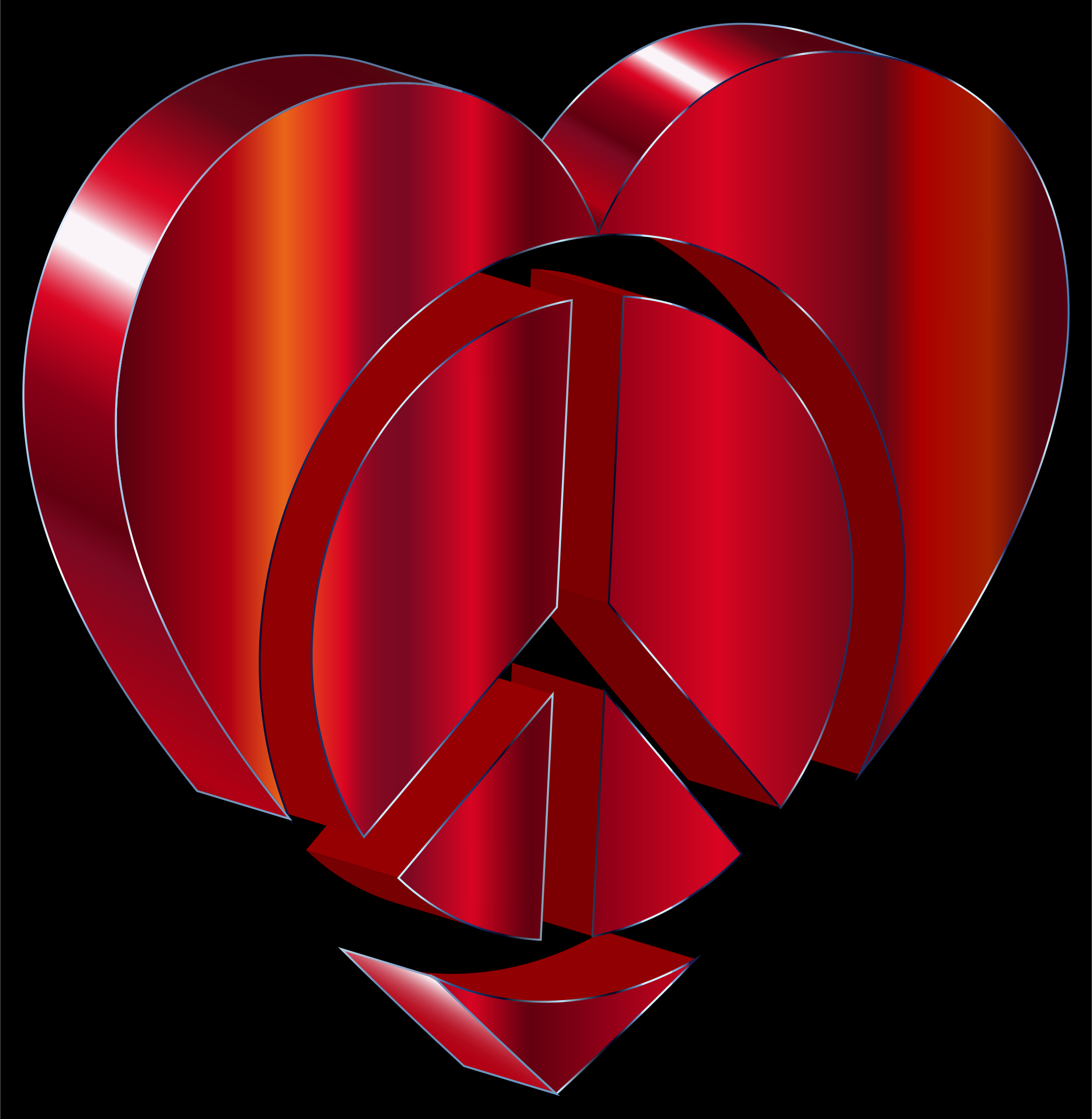 3D Peace Heart by GDJ