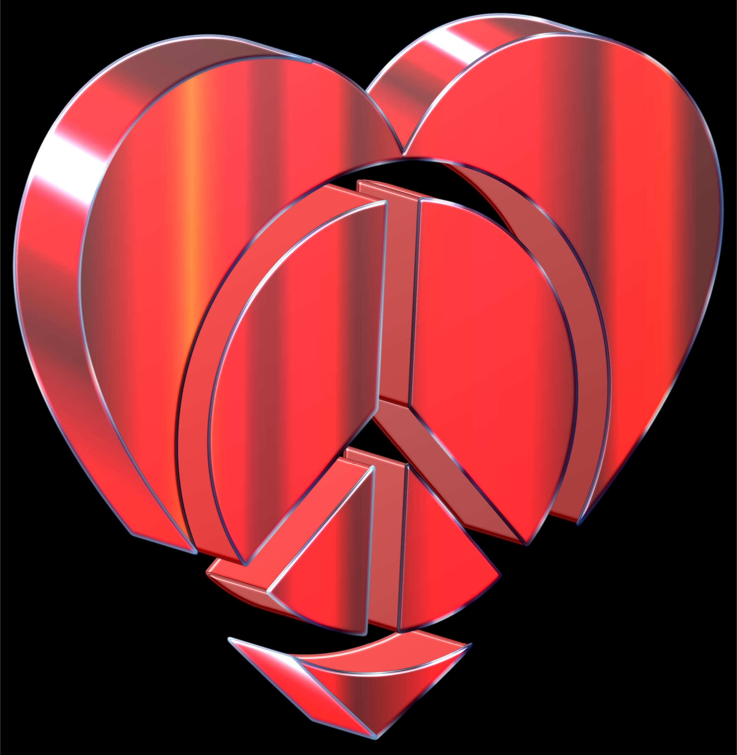 3D Peace Heart 2 by GDJ