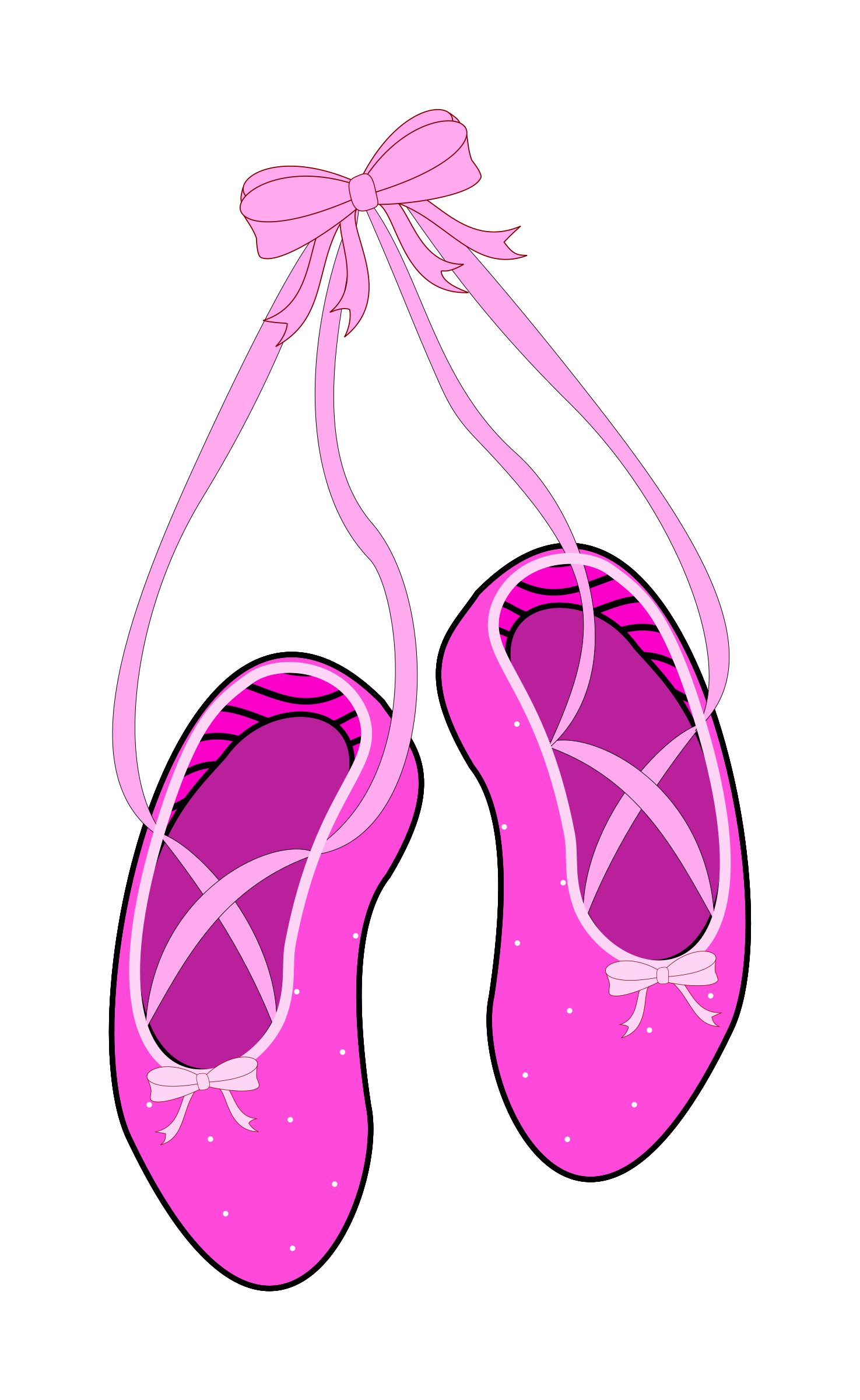 clipart ballet slippers rh openclipart org ballet shoes clipart png red ballet shoes clipart
