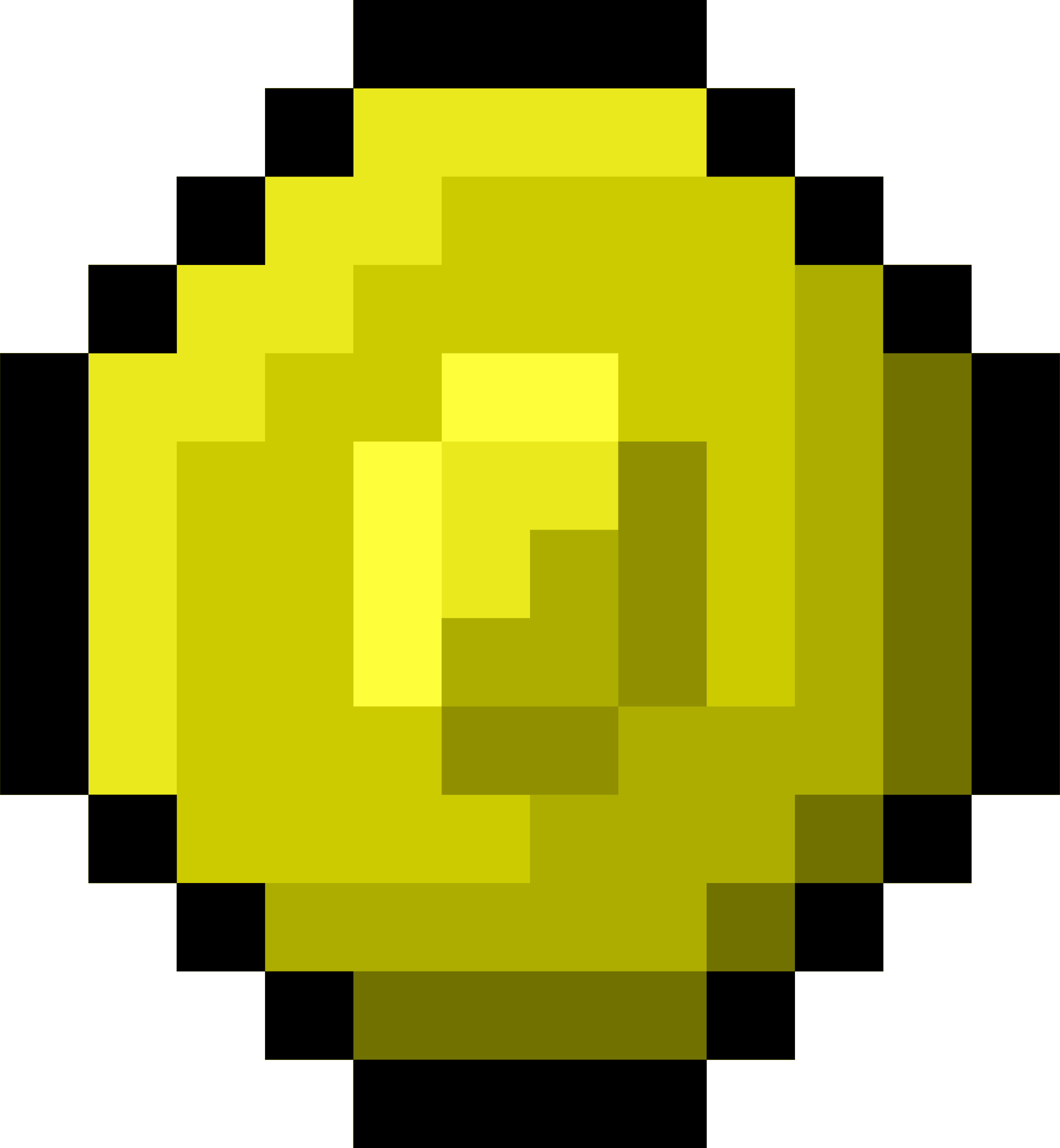Pixel Gold Coin by isaiah658