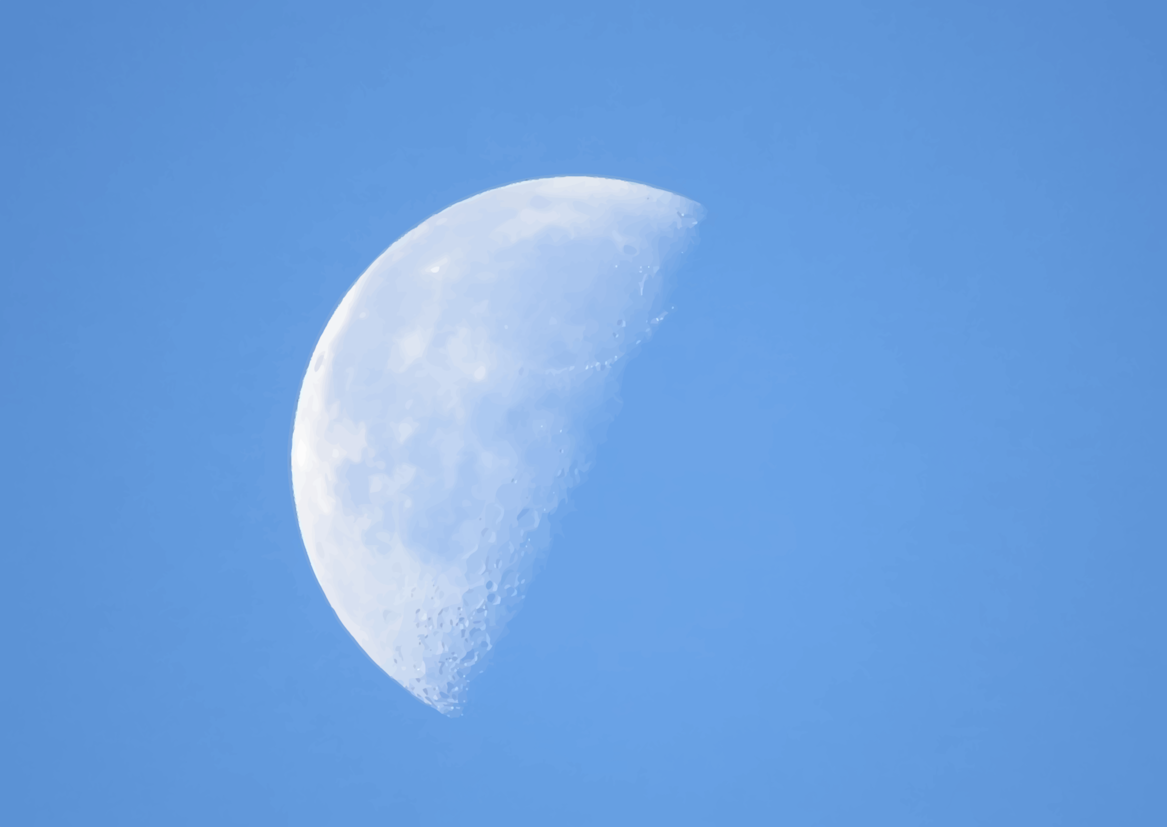 Half-moon in daylight by Firkin