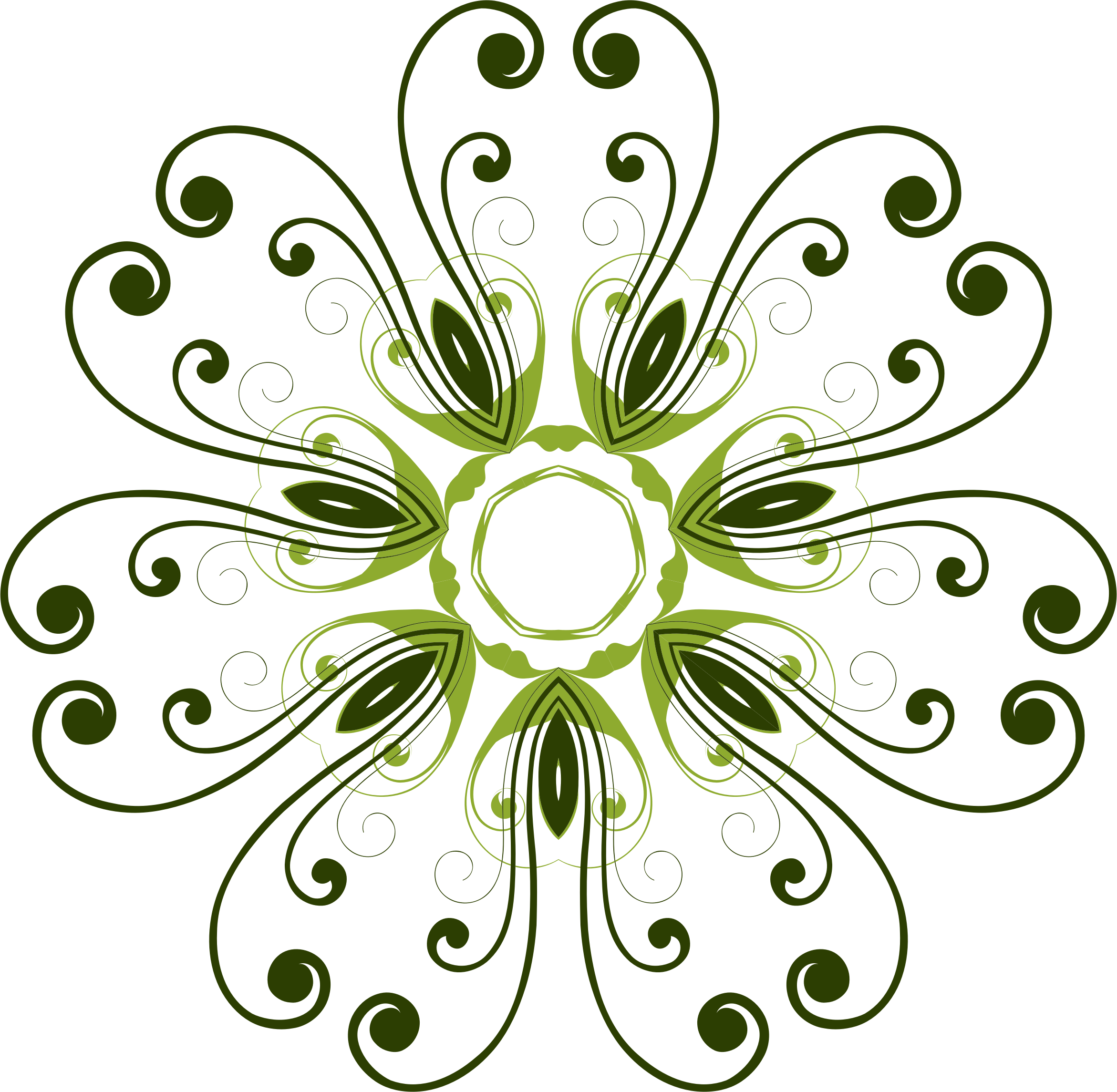 Flourish Flower Design by GDJ