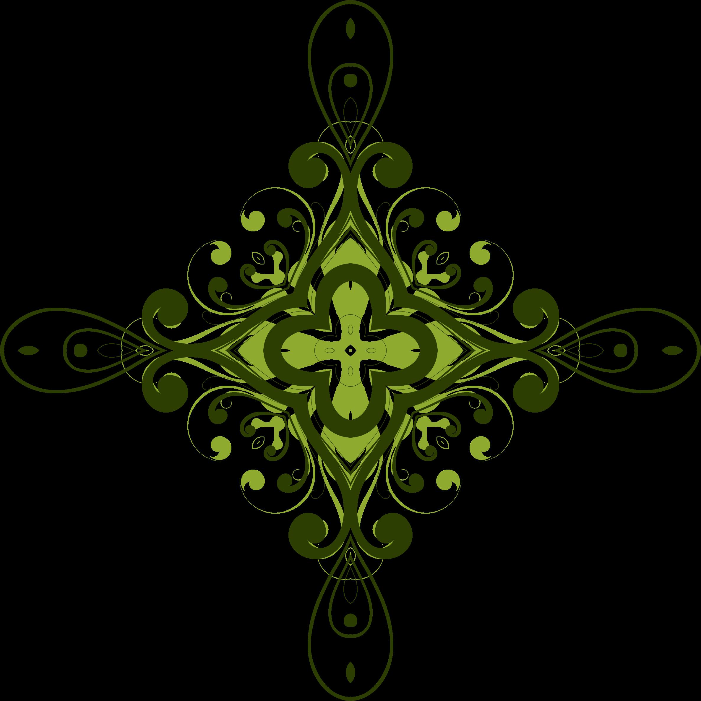 clipart flourish flower design 4