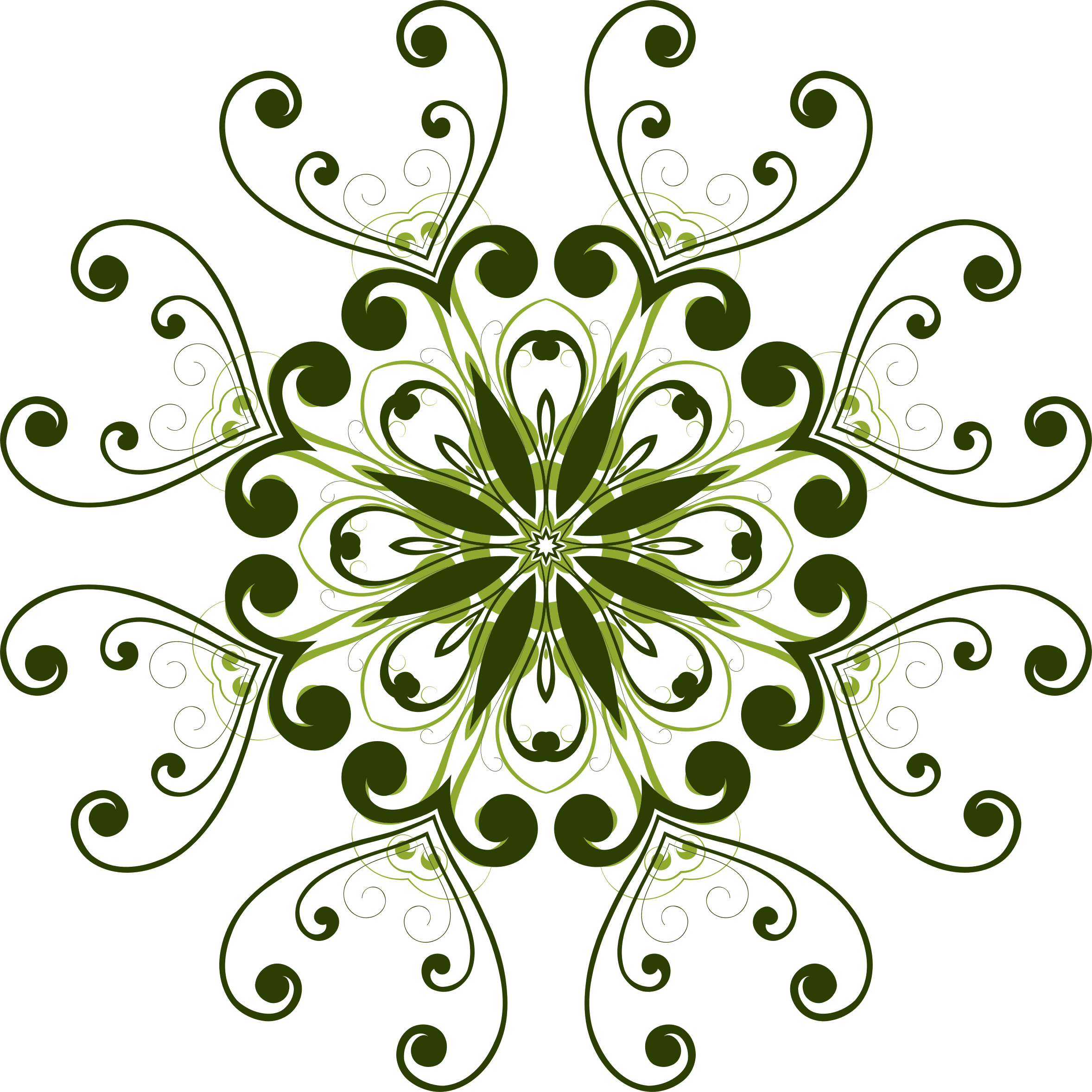 Clipart Flourish Flower Design 11