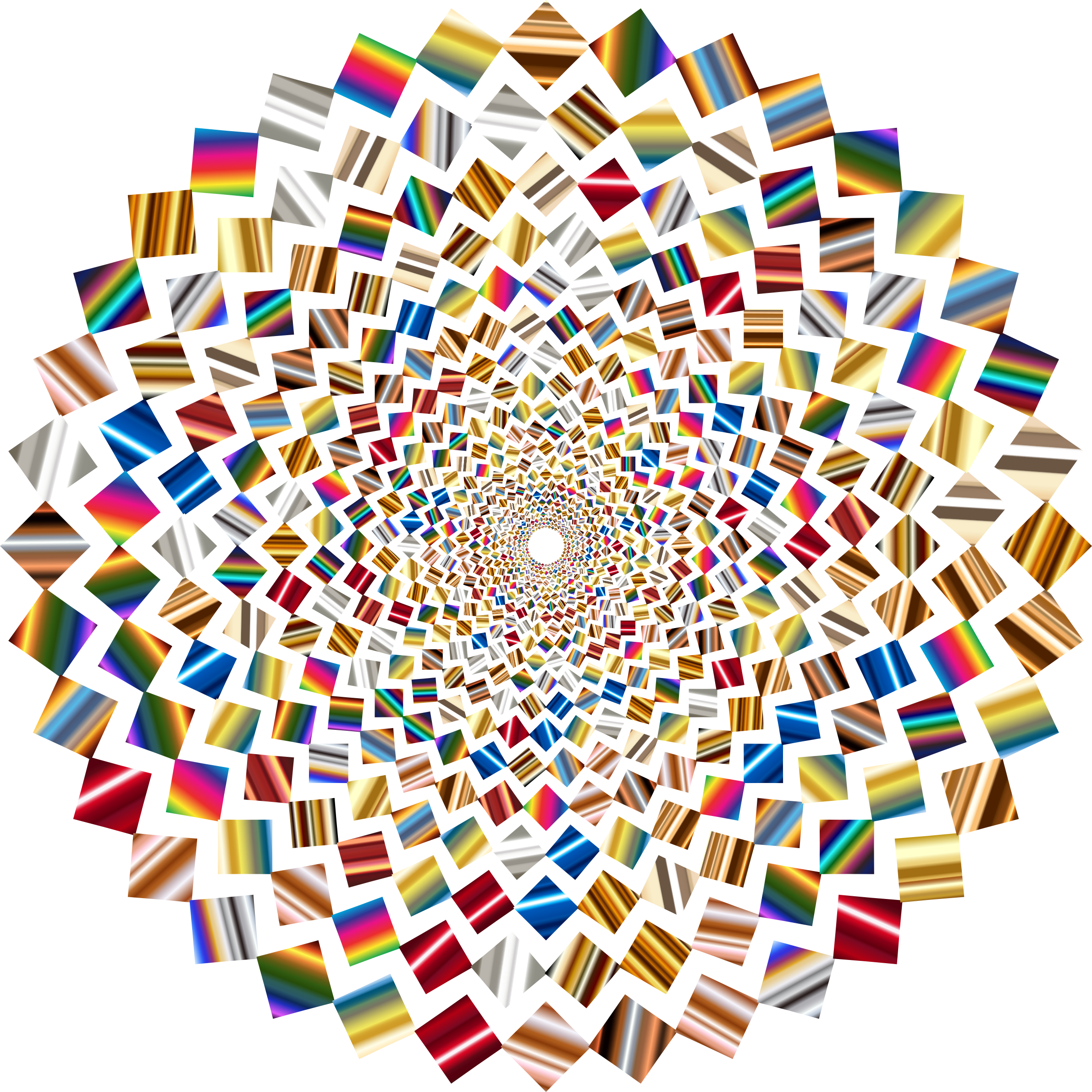 Psychedelic Colorful Concentric Squares Vortex by GDJ