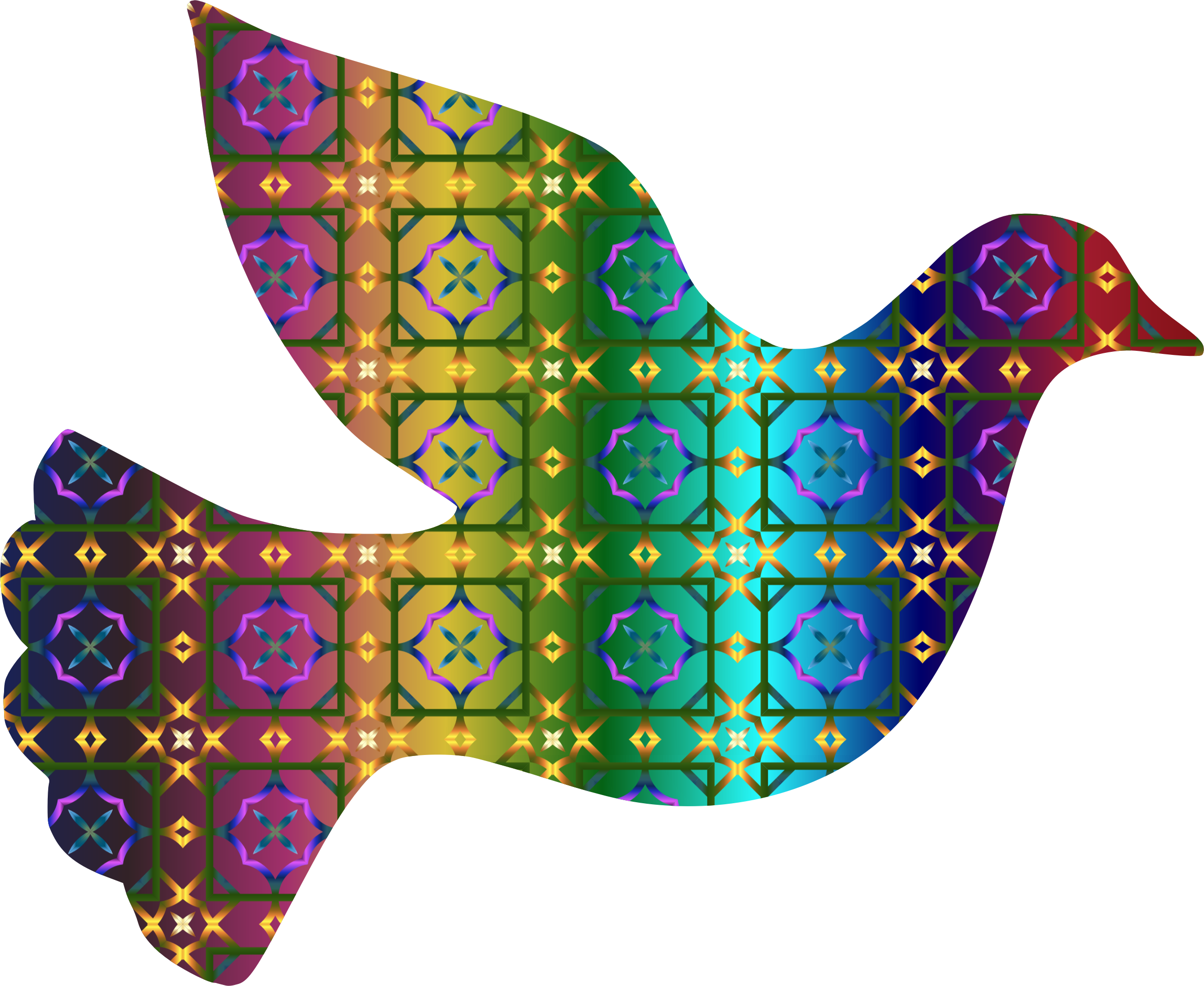 Colorful Dove Pattern by GDJ