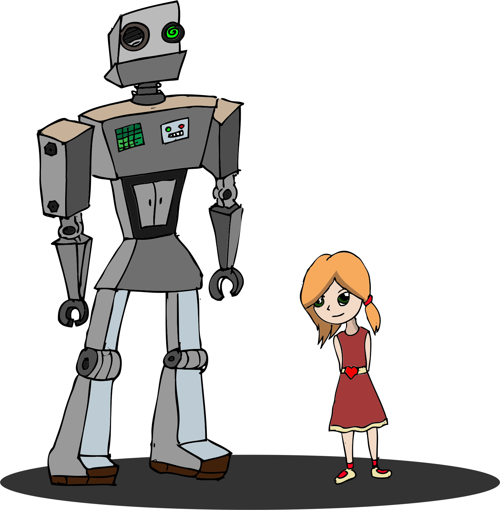 Girl And Robot by GDJ