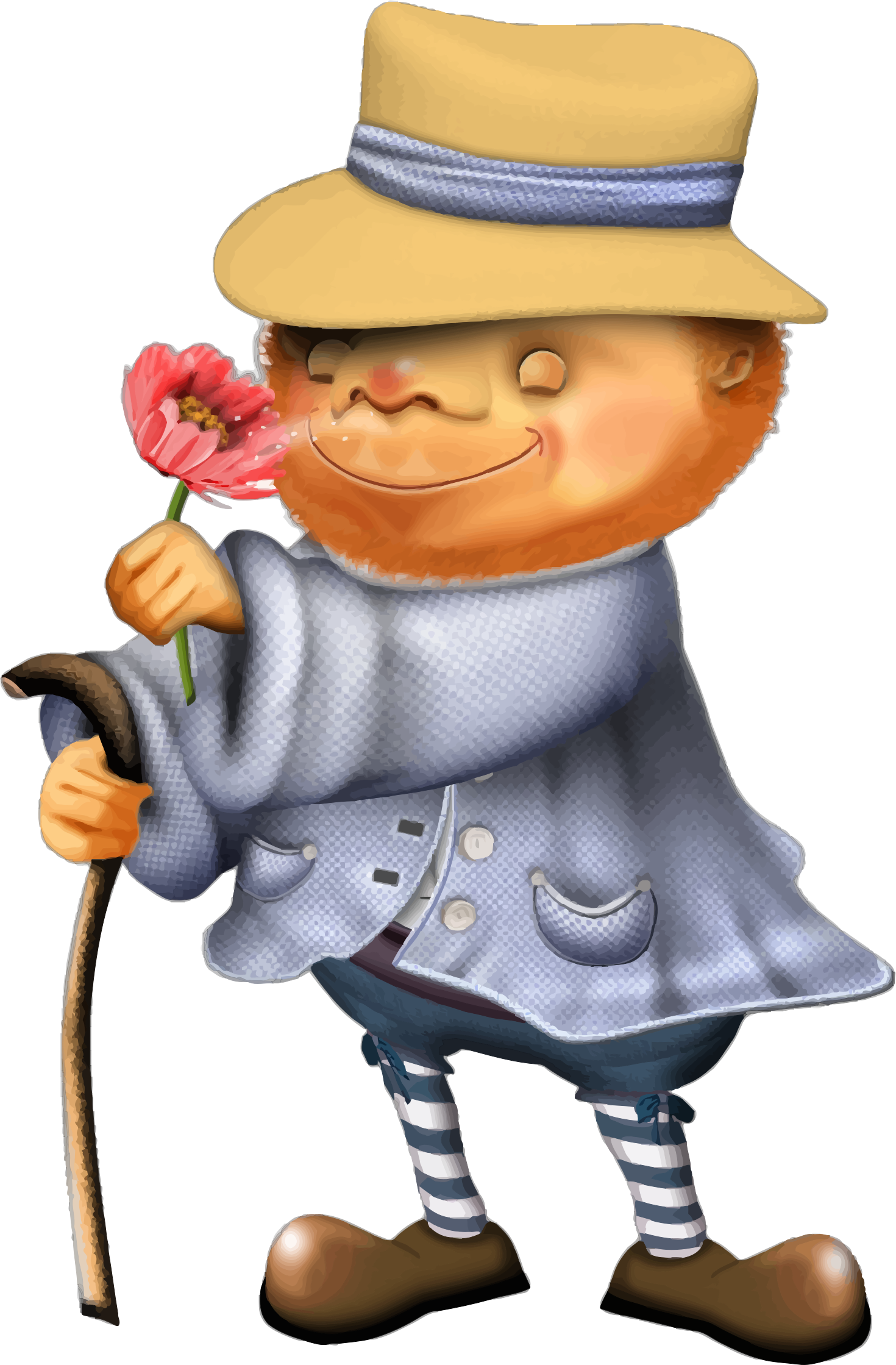 Man Sniffing Flower by GDJ