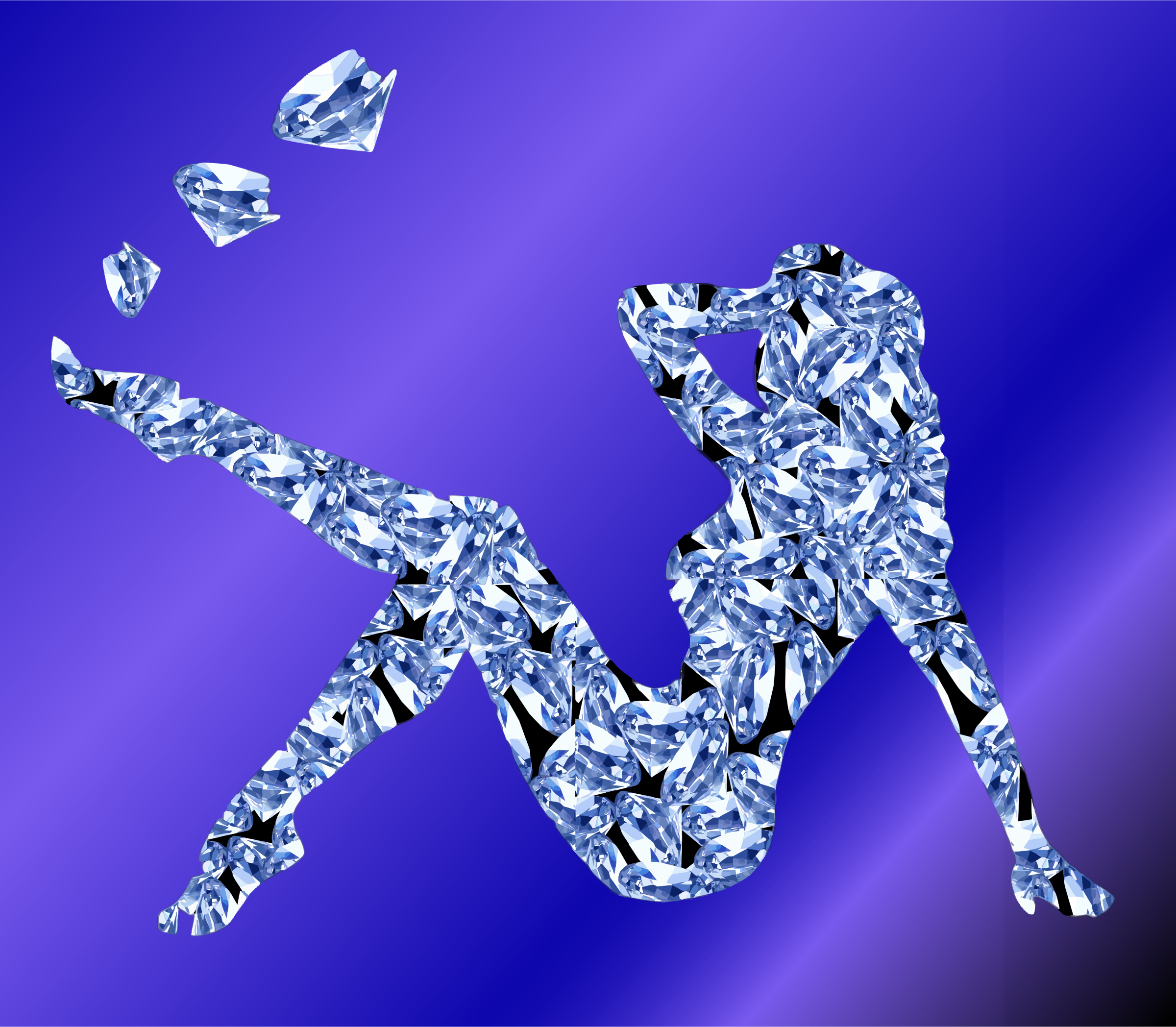 Clipart - Diamond Woman With Background