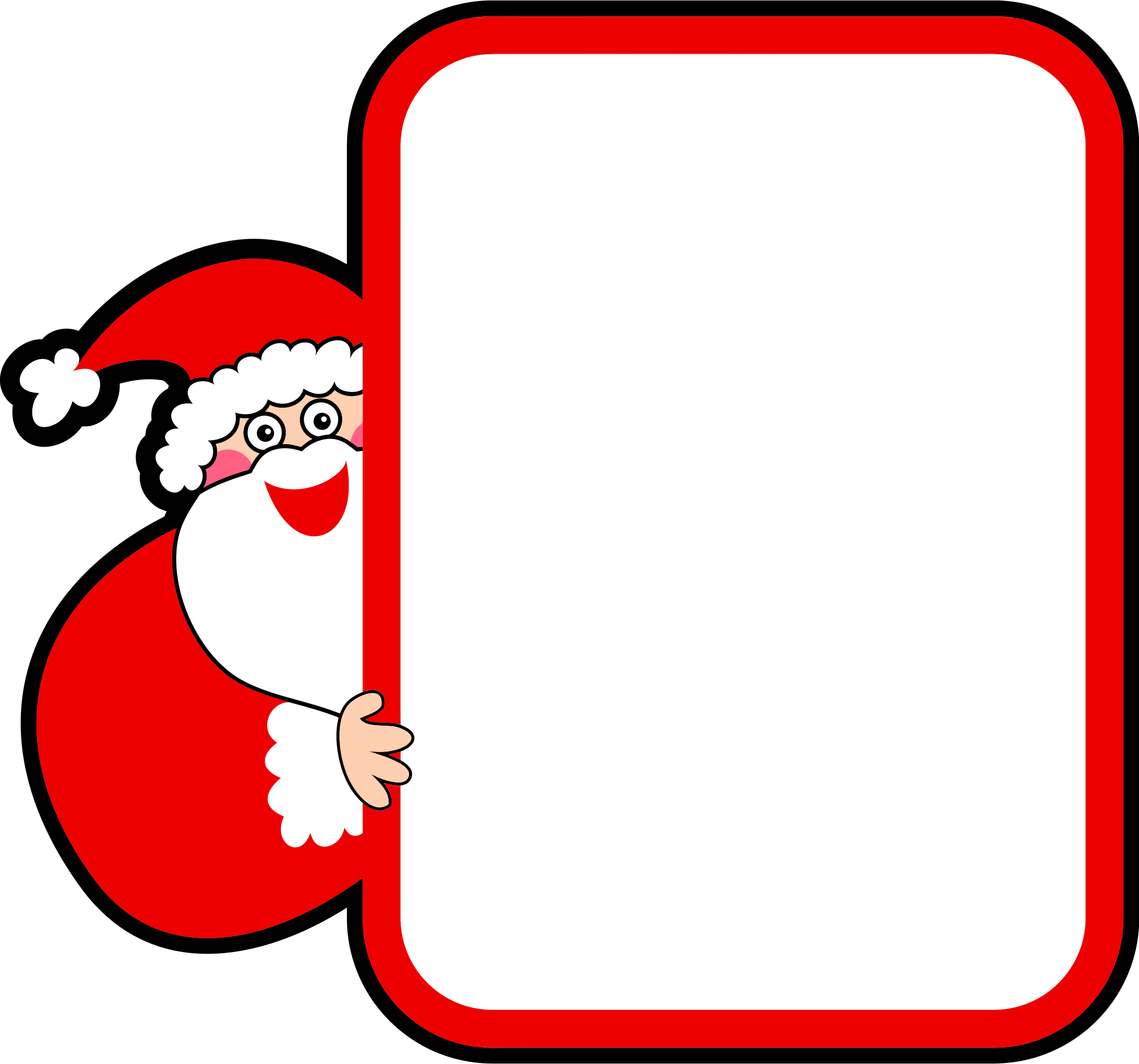 clipart santa claus sign