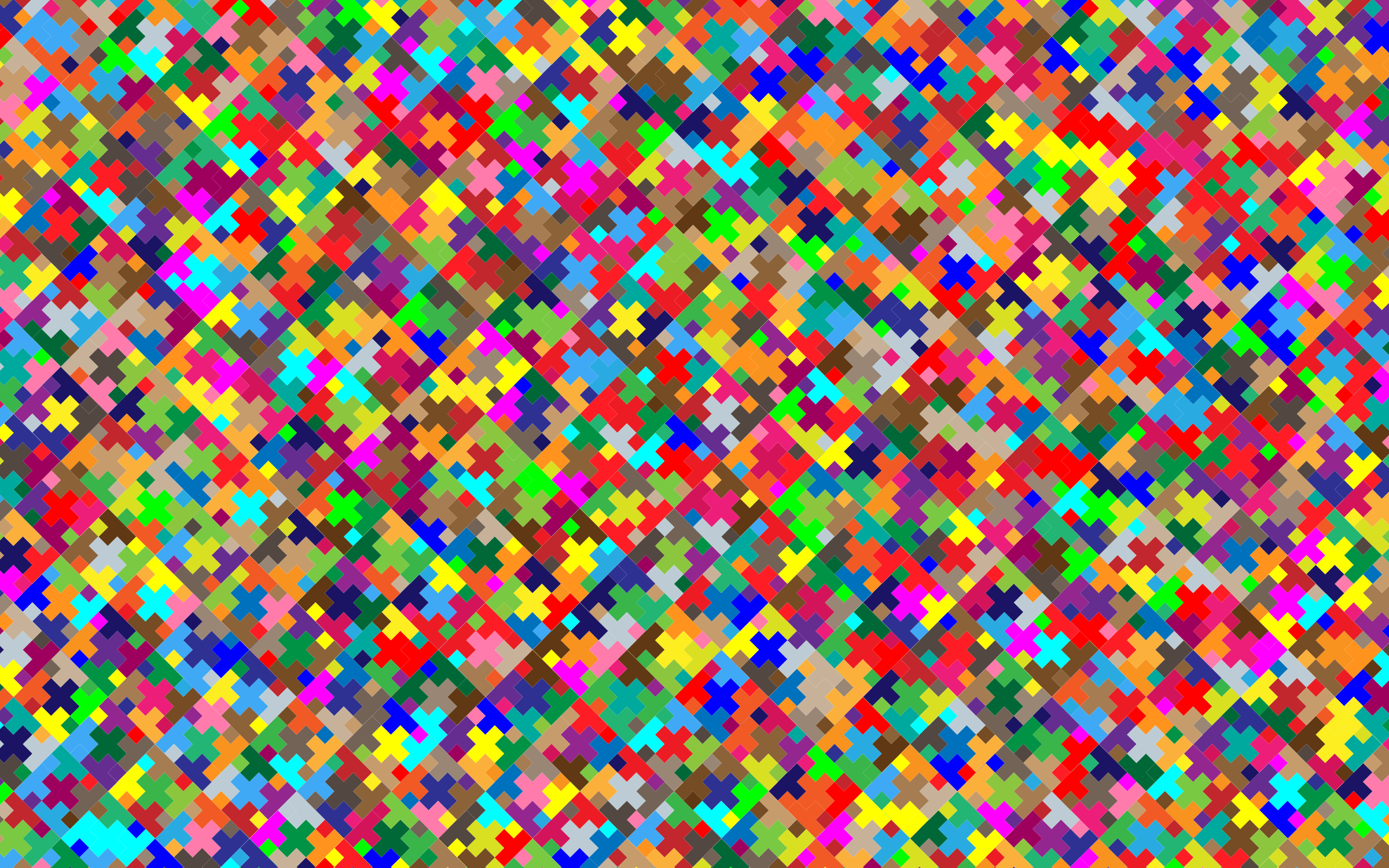 Colorful Plus Pattern Wallpaper 2