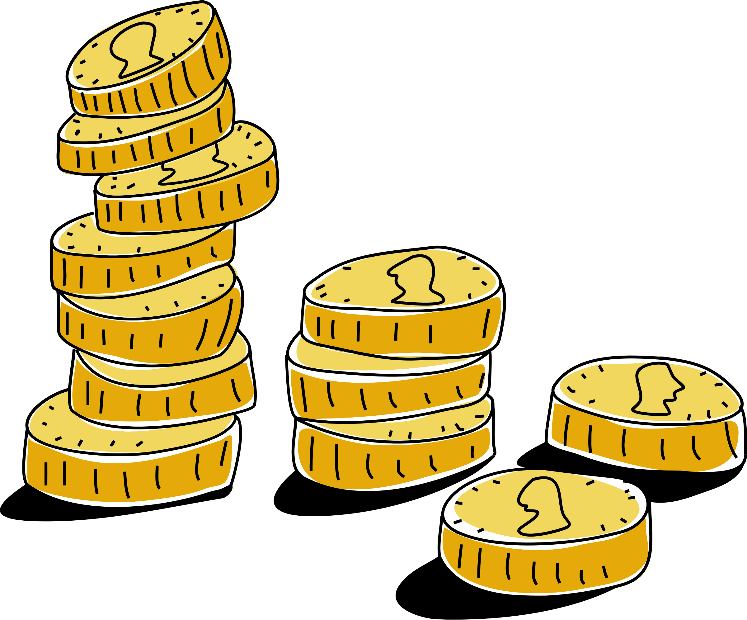Gold Coins Illustration by GDJ
