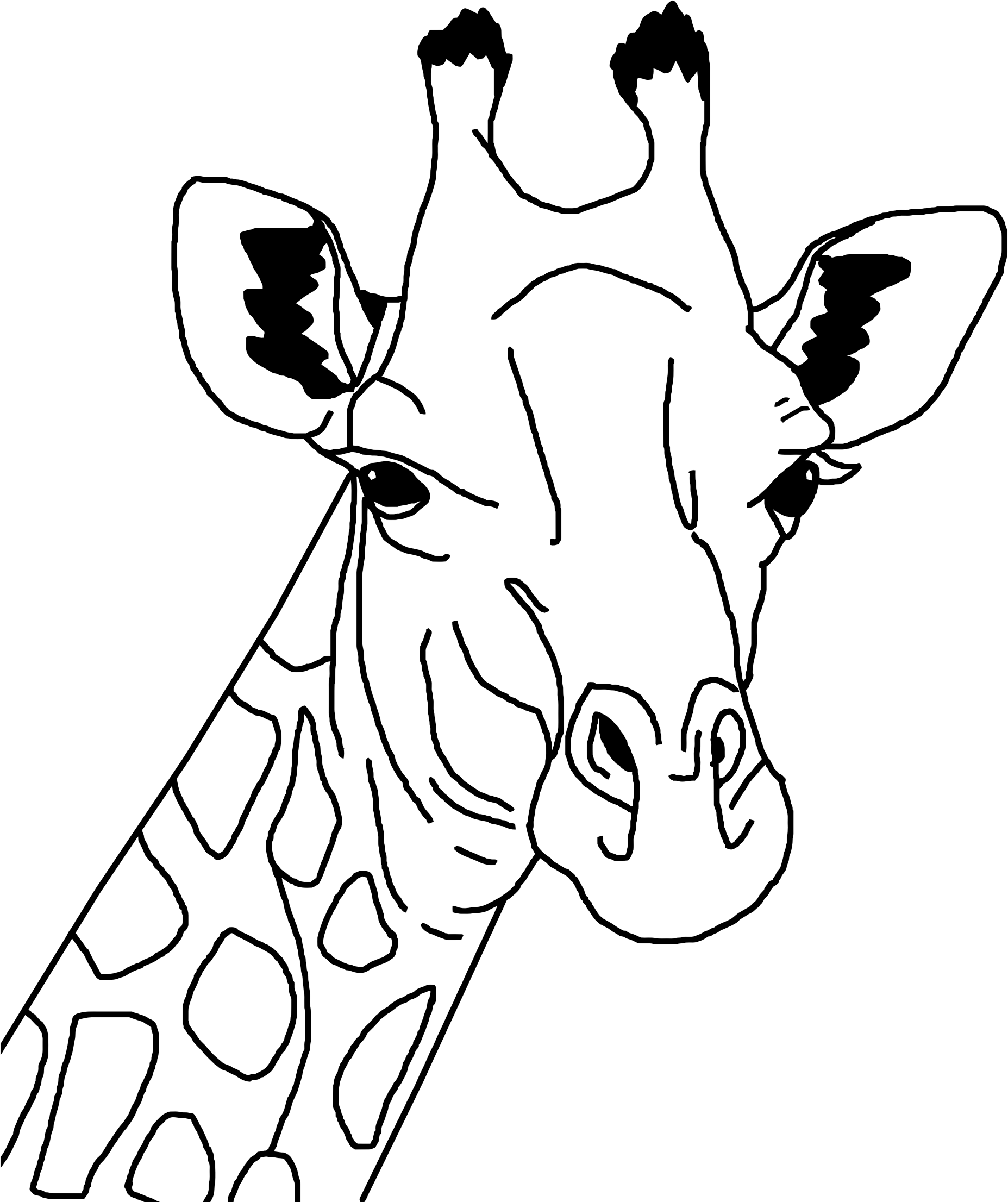 Giraffe Line Art by GDJ