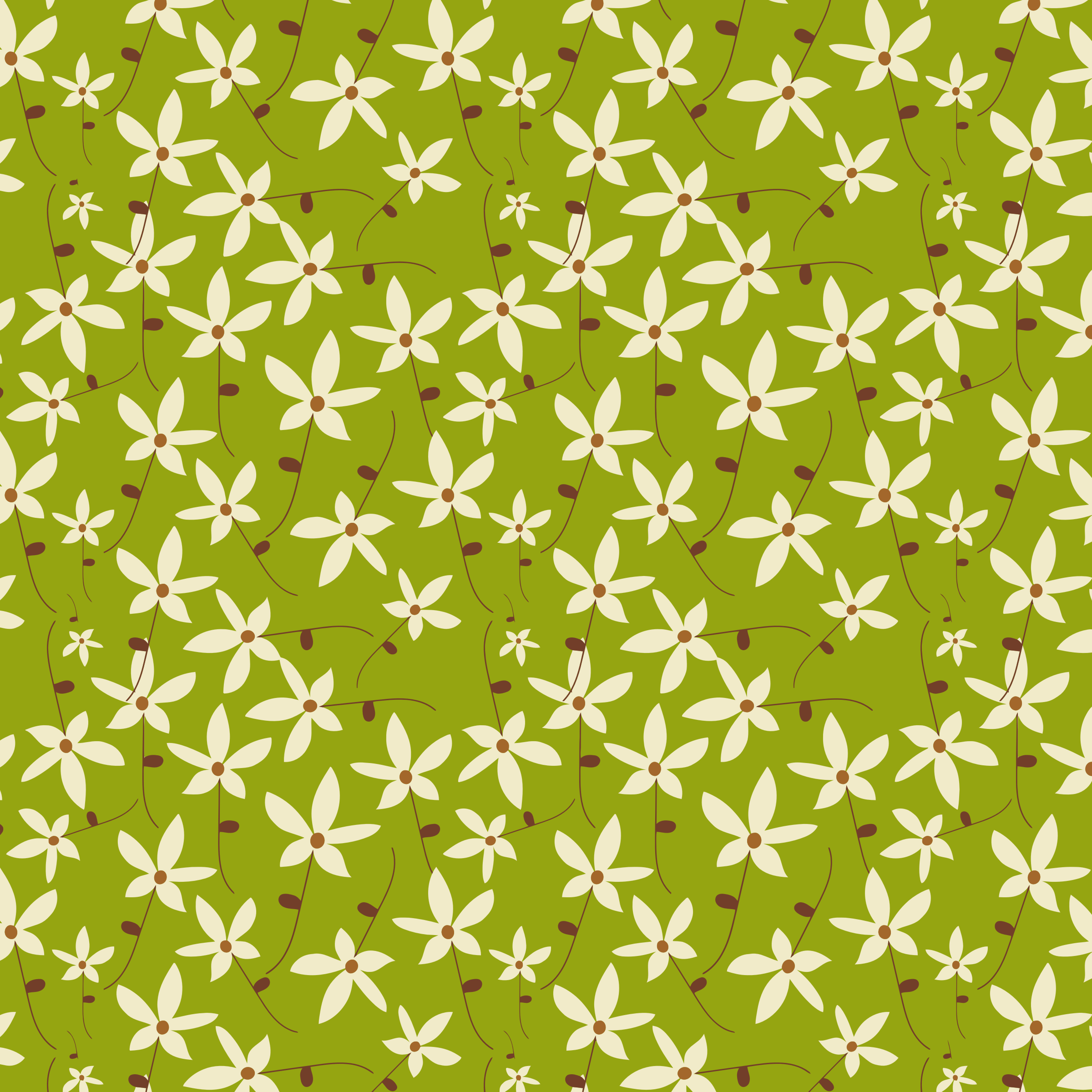 Floral Seamless Pattern Background by GDJ