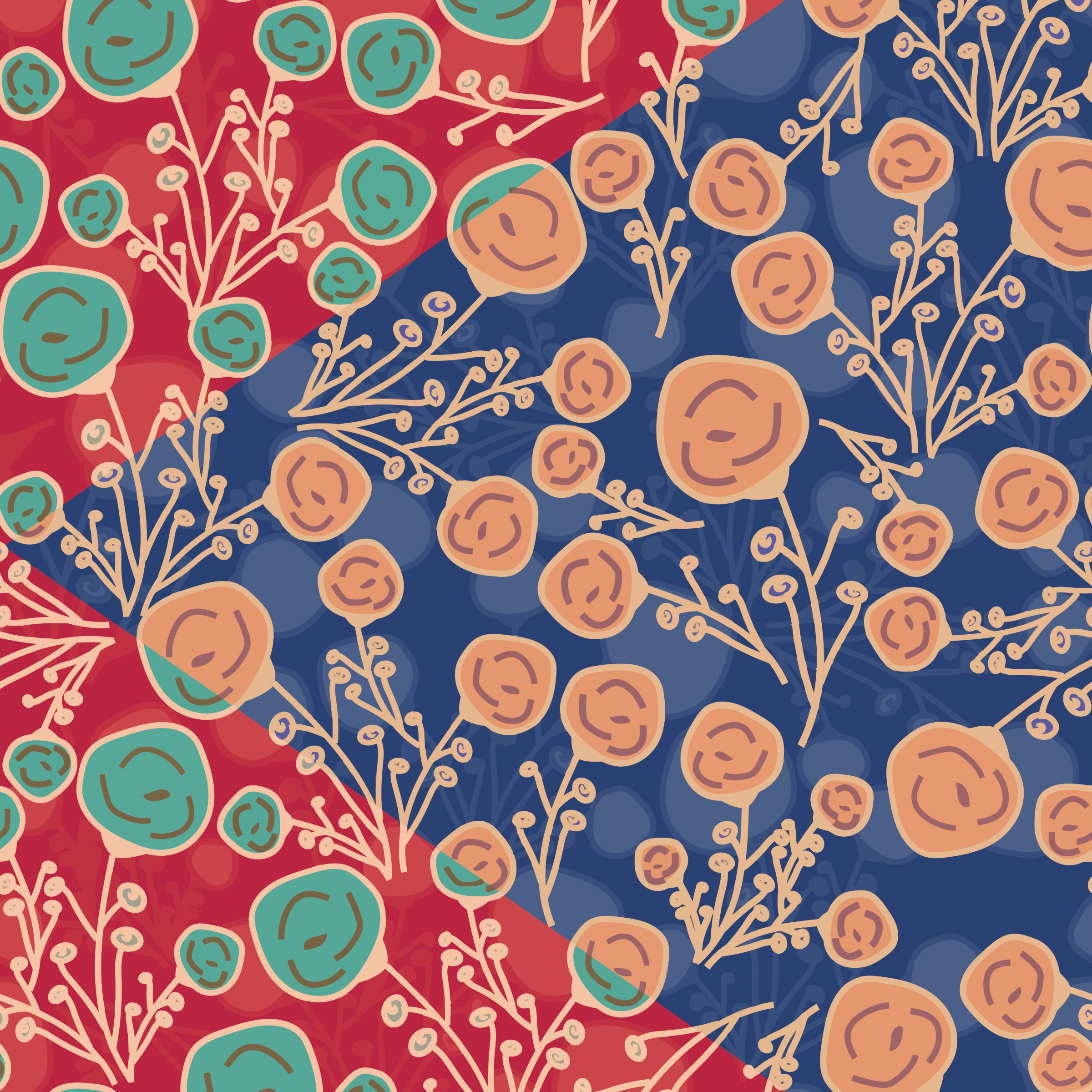 Floral Pattern Background Design by GDJ