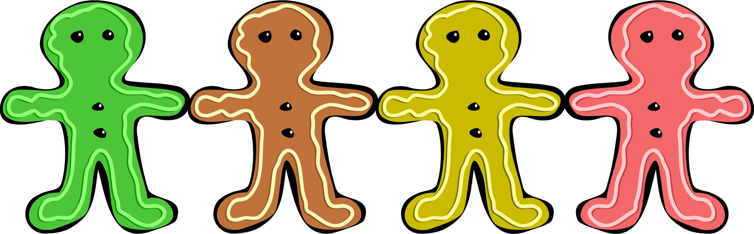 Colorful Gingerbread Men by GDJ