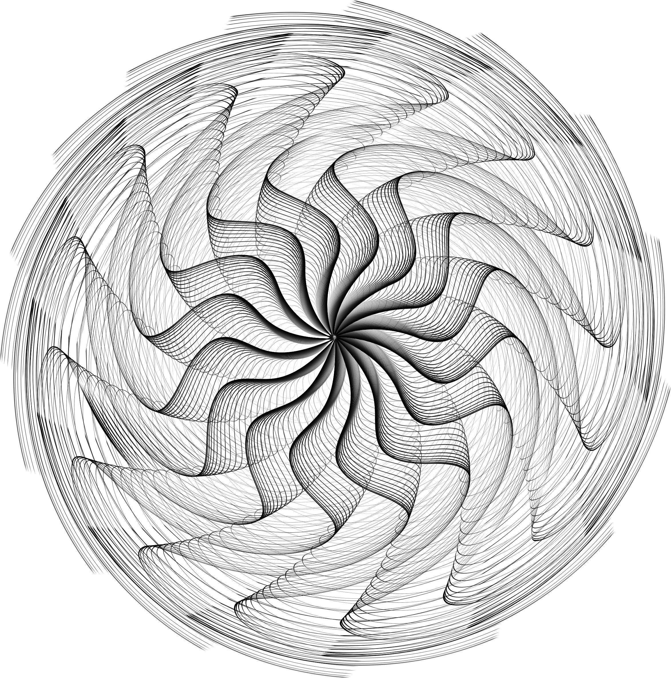Wavy Vortex Line Art by GDJ