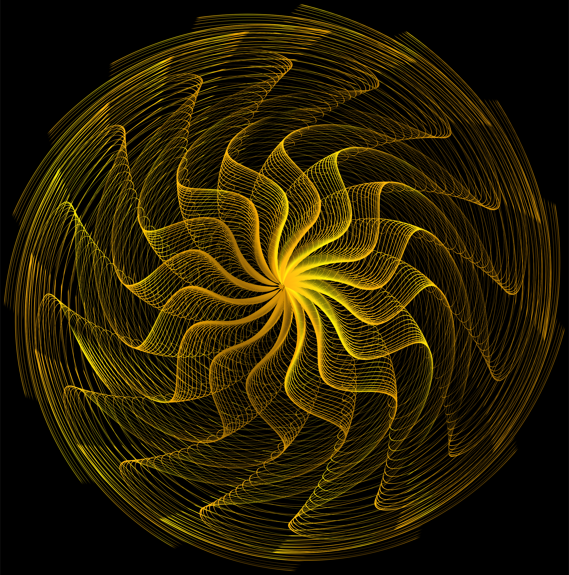 Colorful Wavy Vortex Line Art 4 by GDJ