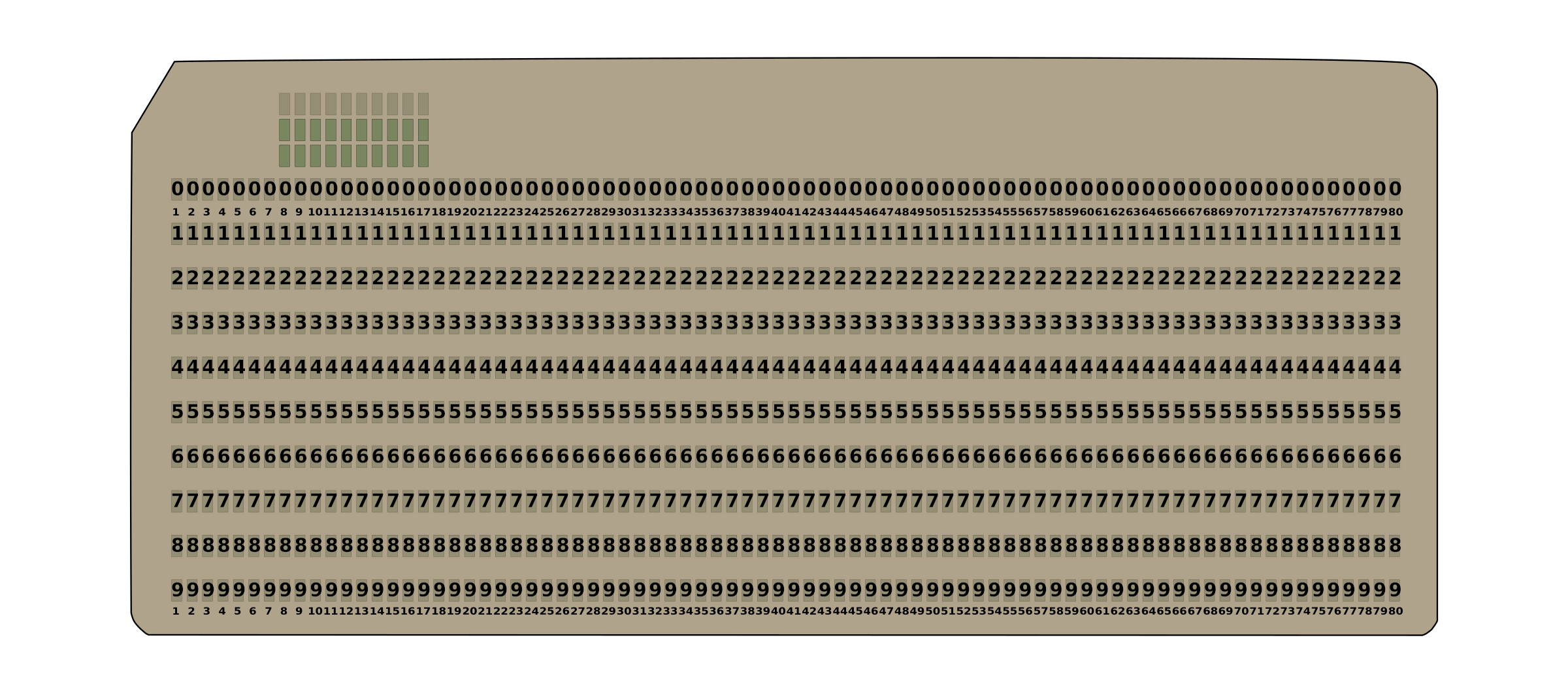80-column punched card by lumbricus