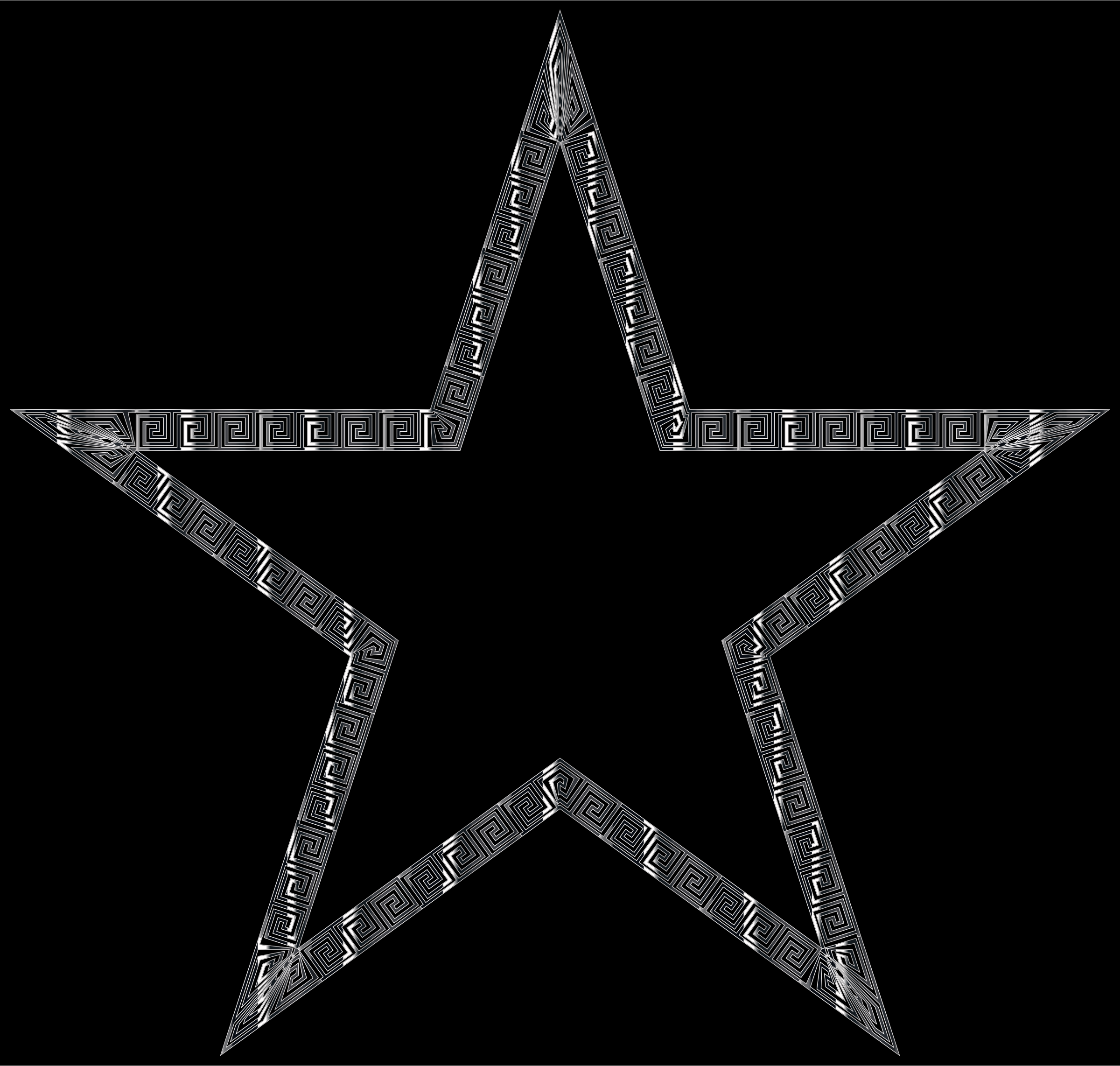 Silver Greek Border Star by GDJ