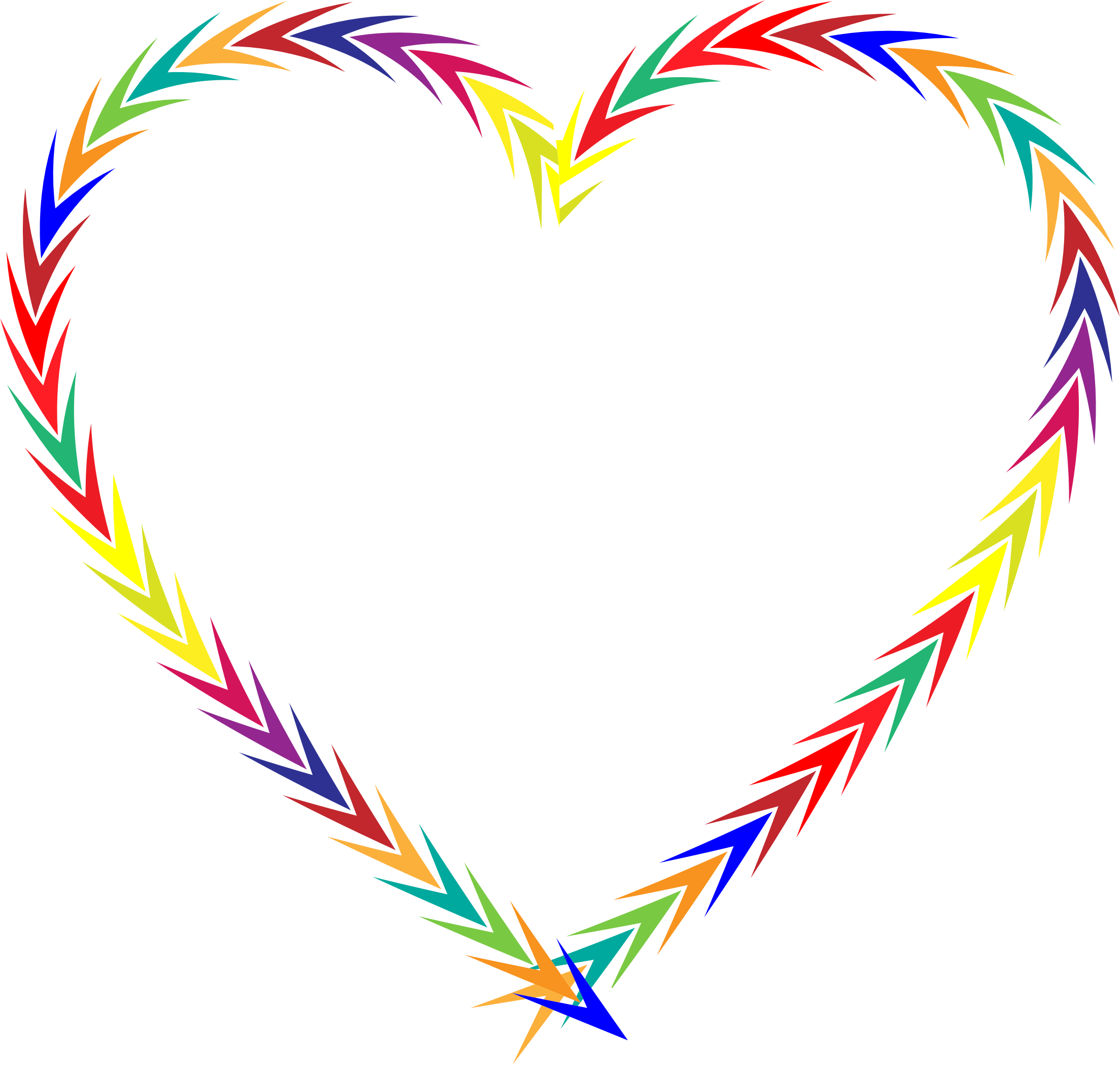 Colorful Arrows Heart by GDJ