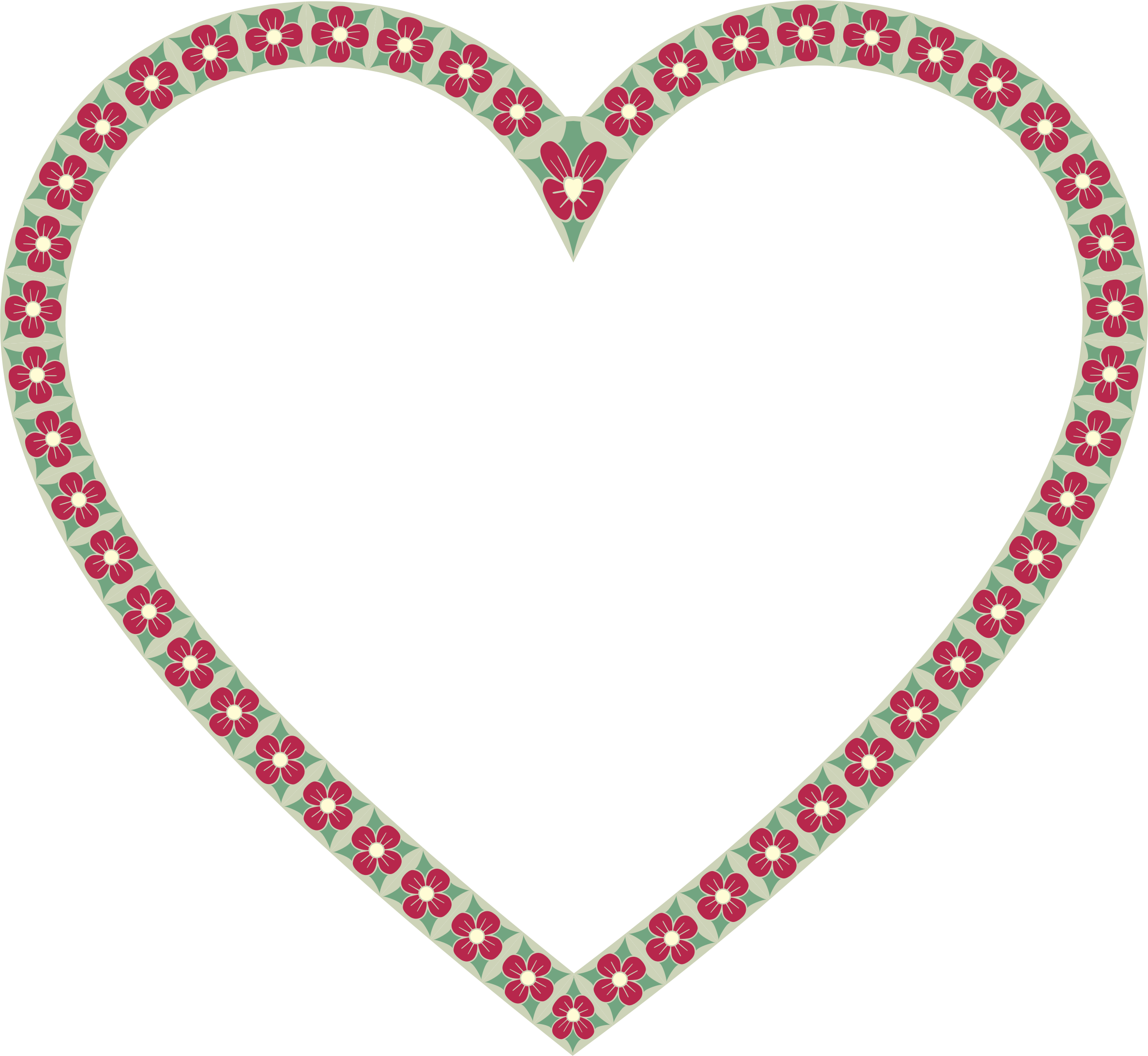 Floral Border Heart by GDJ