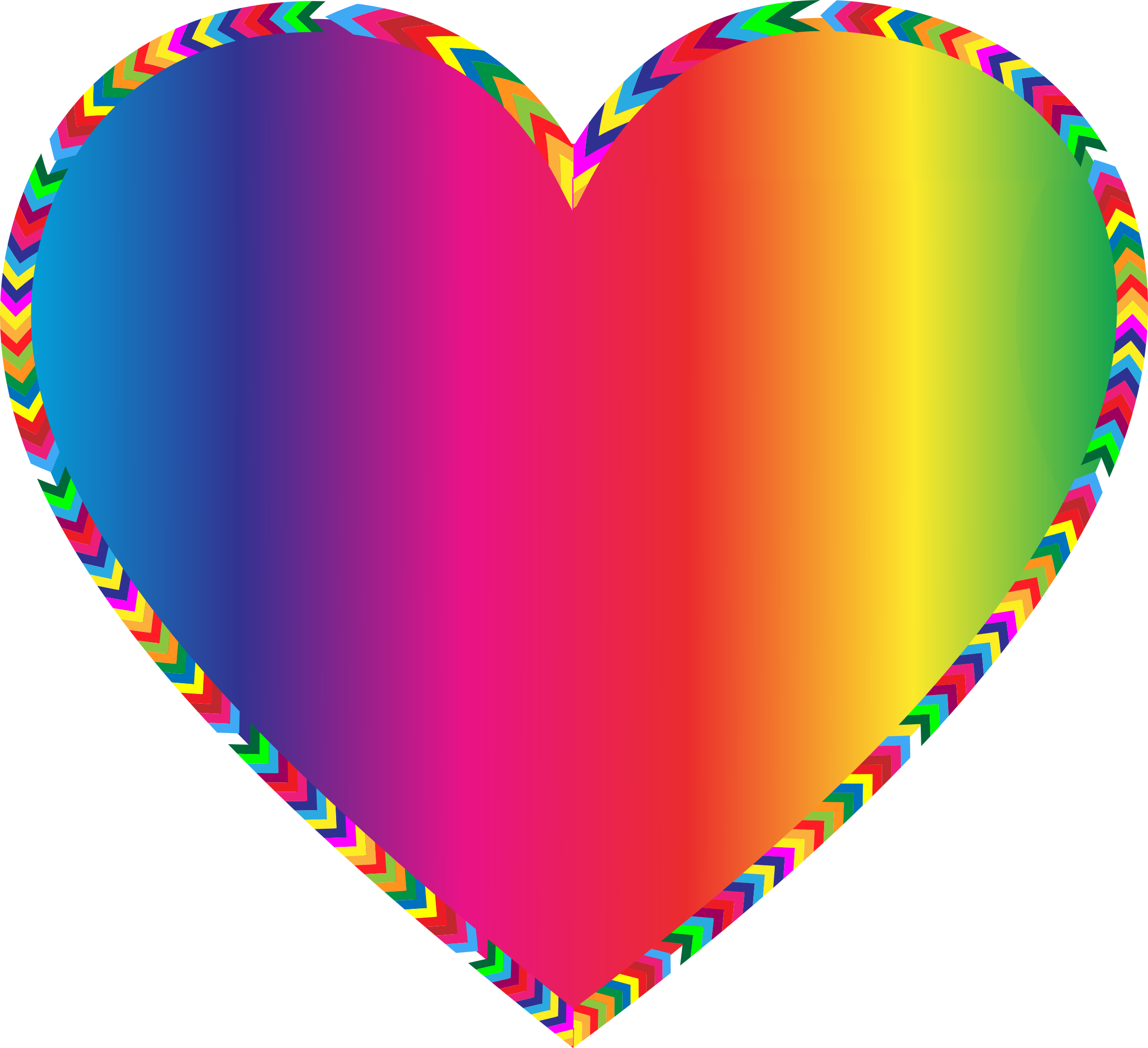 Multicolored Arrows Heart Filled by GDJ