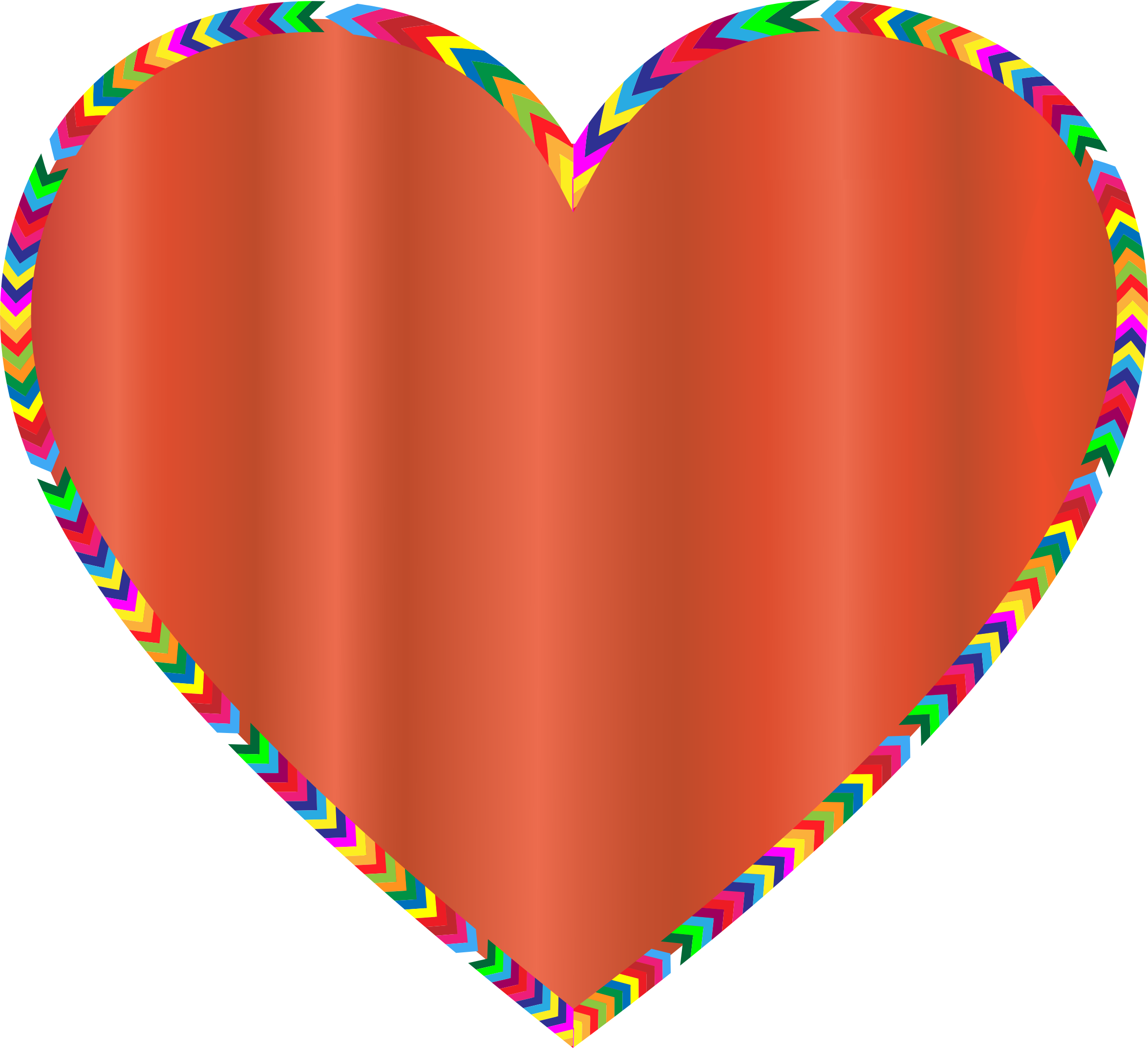 Multicolored Arrows Heart Filled 2 by GDJ