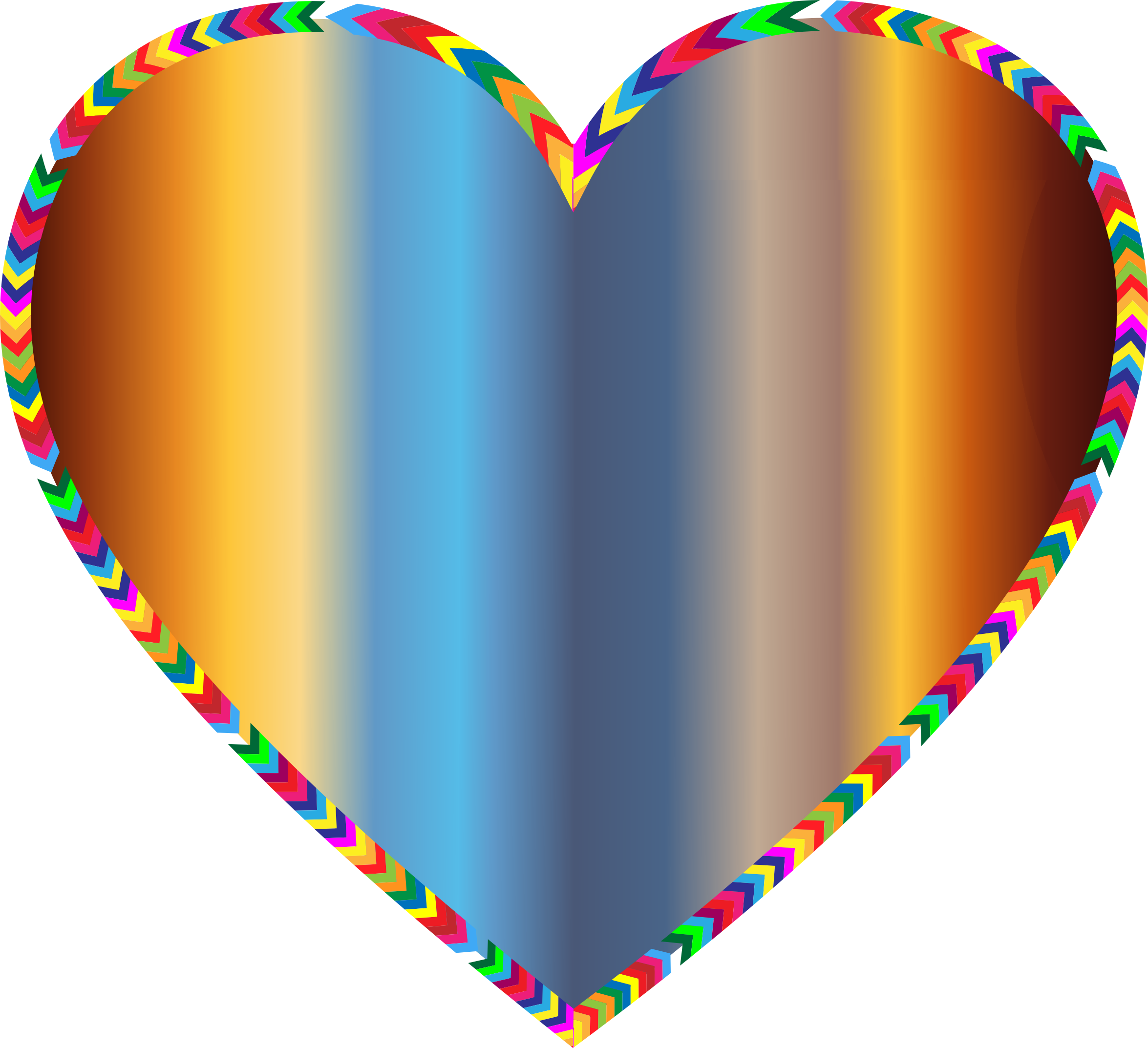 Multicolored Arrows Heart Filled 5 by GDJ
