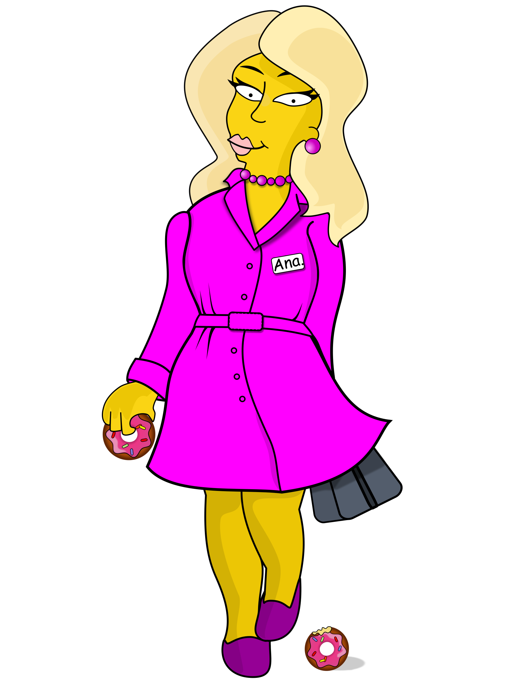 Ana Simpsons Character by Ana.