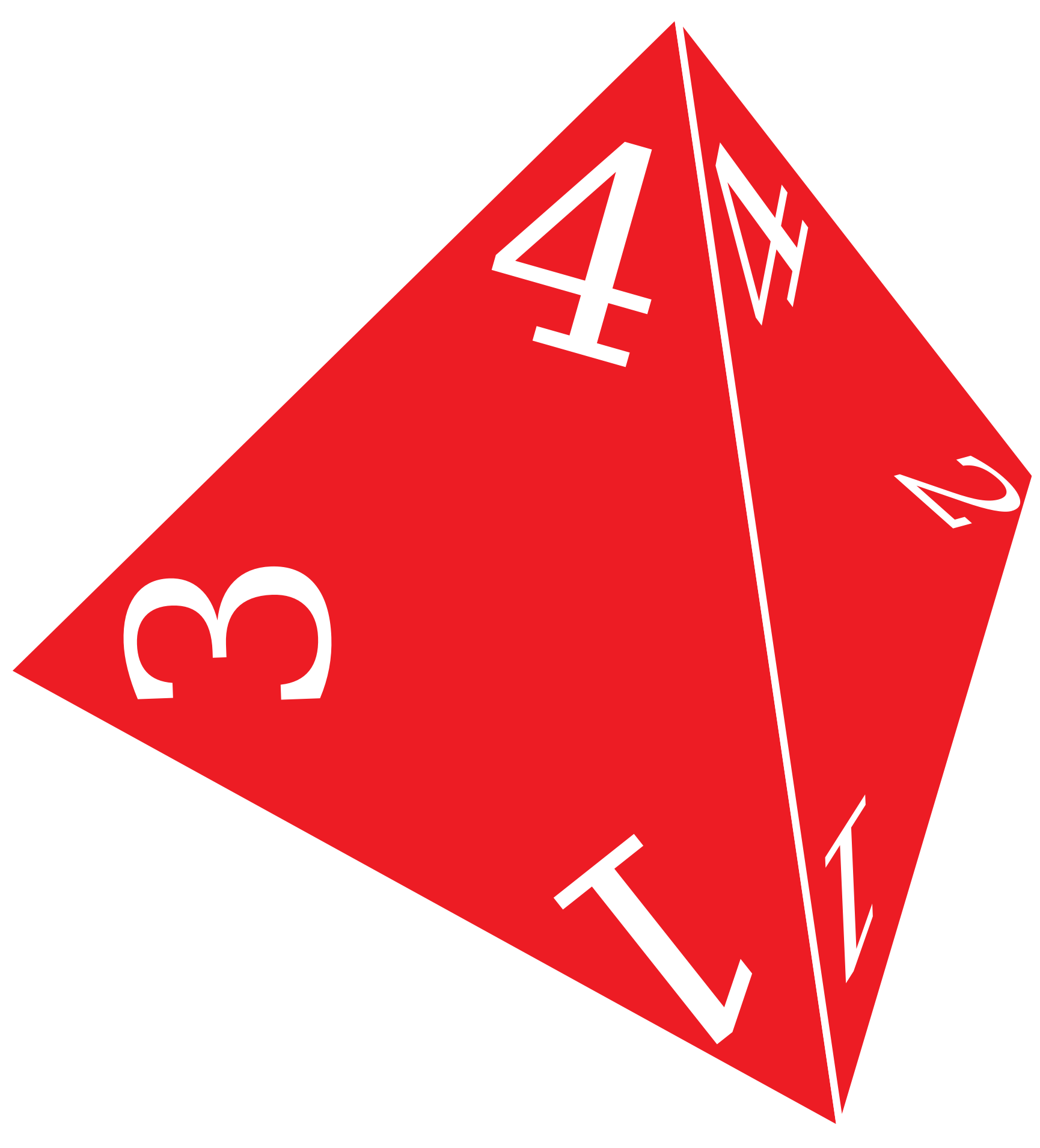 D4, Four Sided Die by Vachenzo