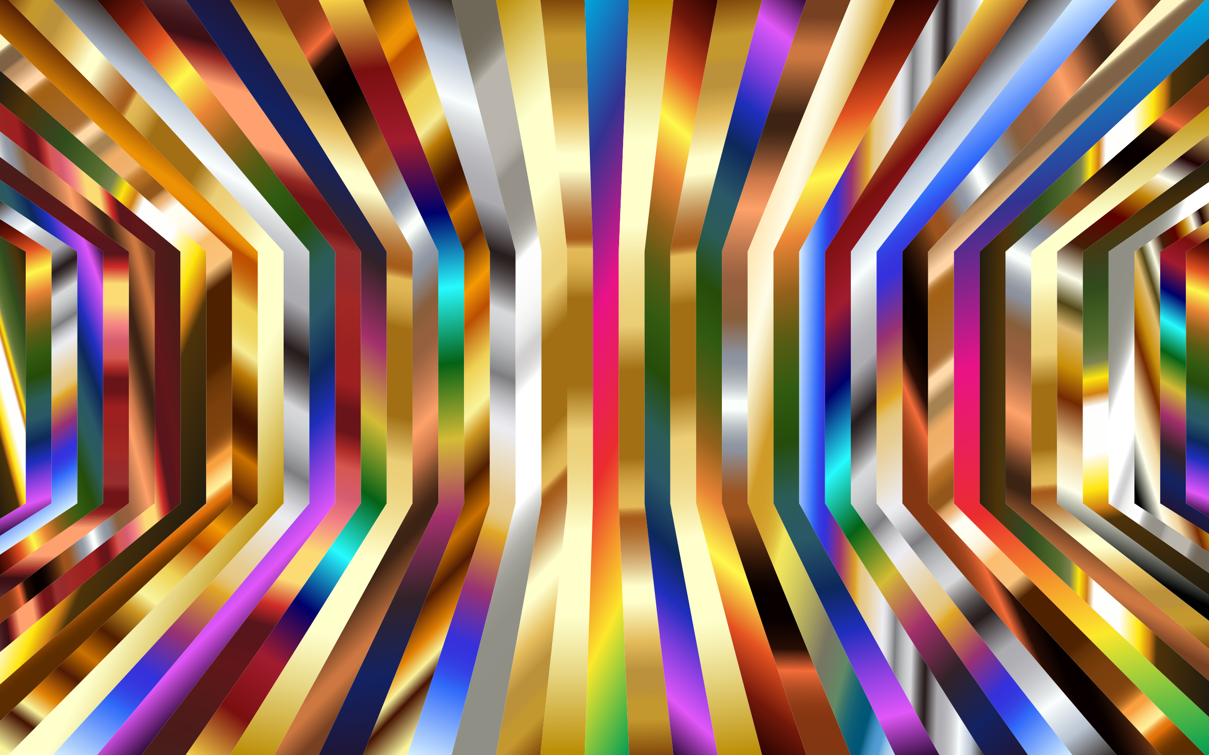 Perspective Psychedelic Vertical Stripes by GDJ
