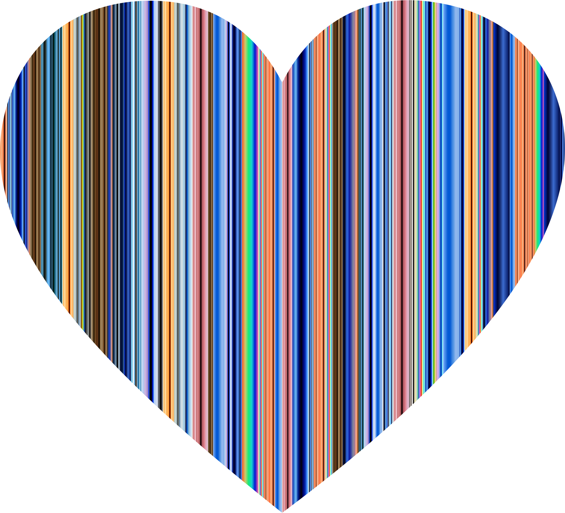 Colorful Striped Heart by GDJ