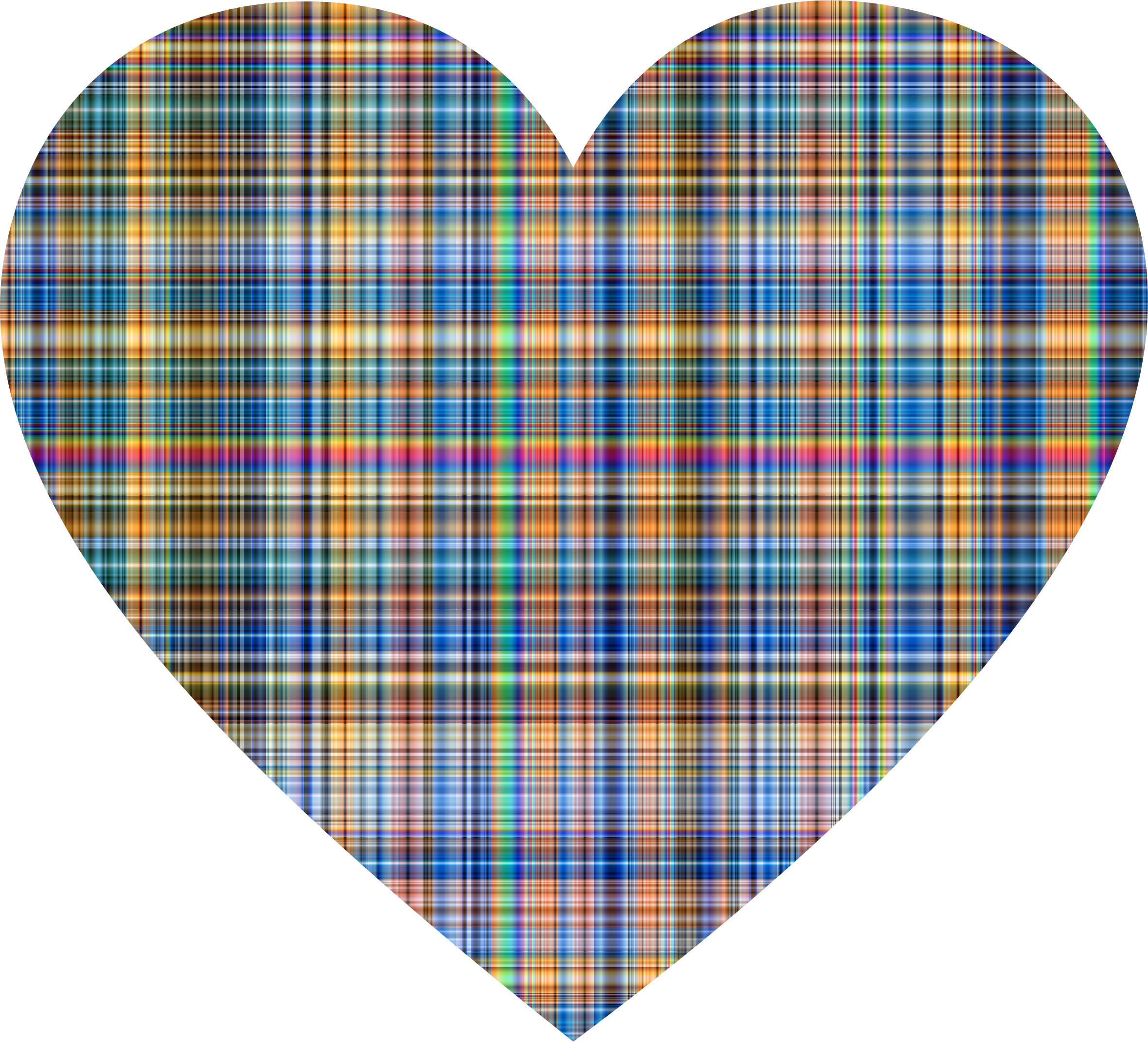 Colorful Gingham Heart by GDJ