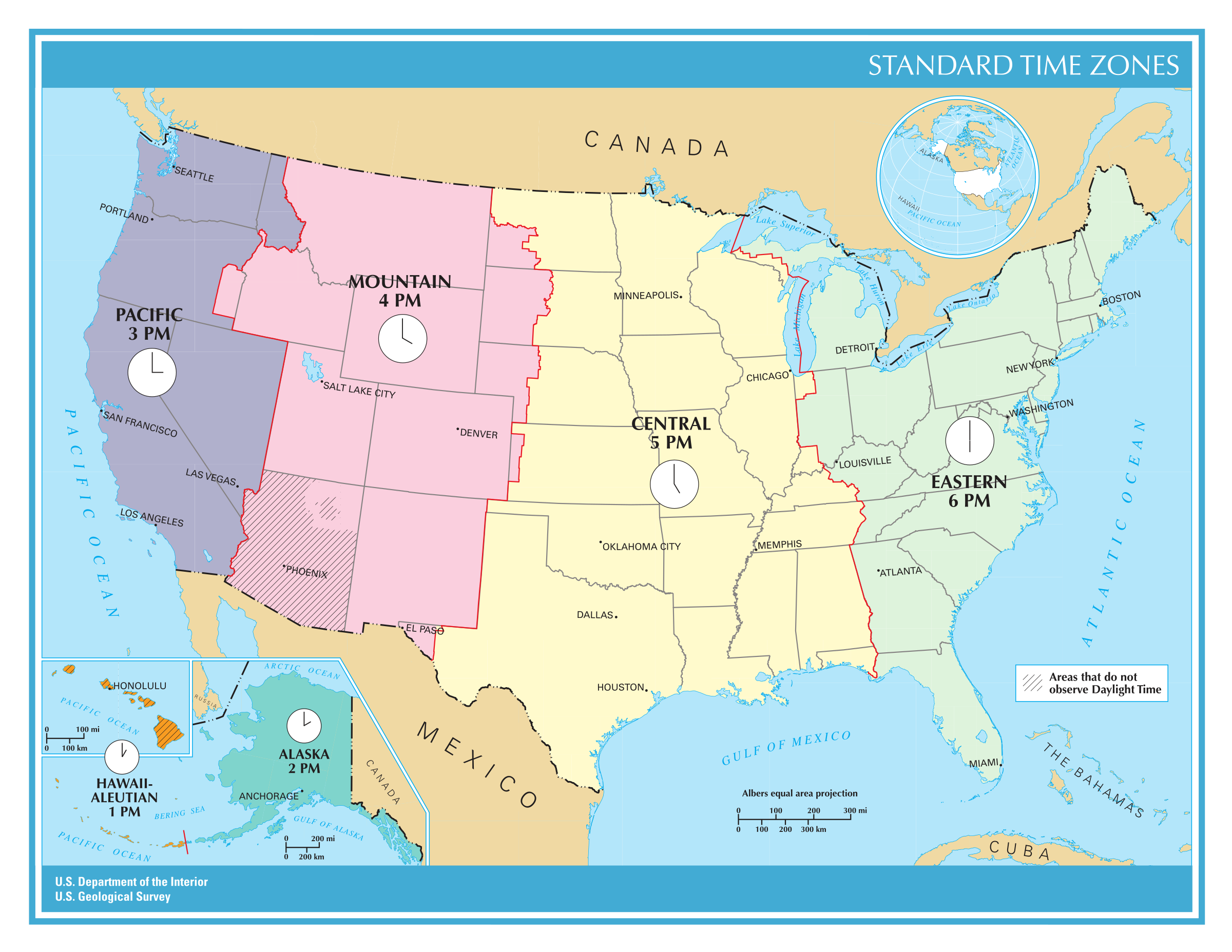 US Time Zones by j4p4n