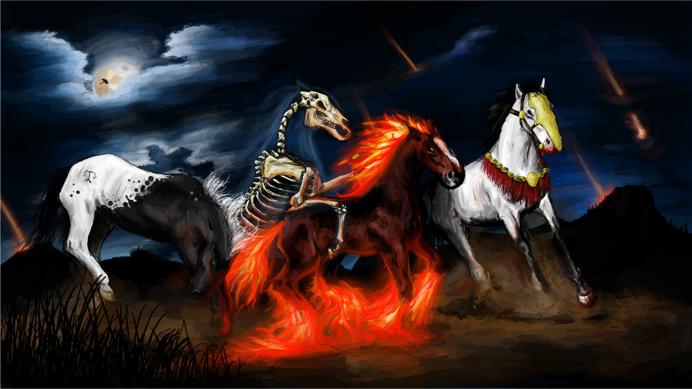 Four Equines Of The Apocalypse by GDJ