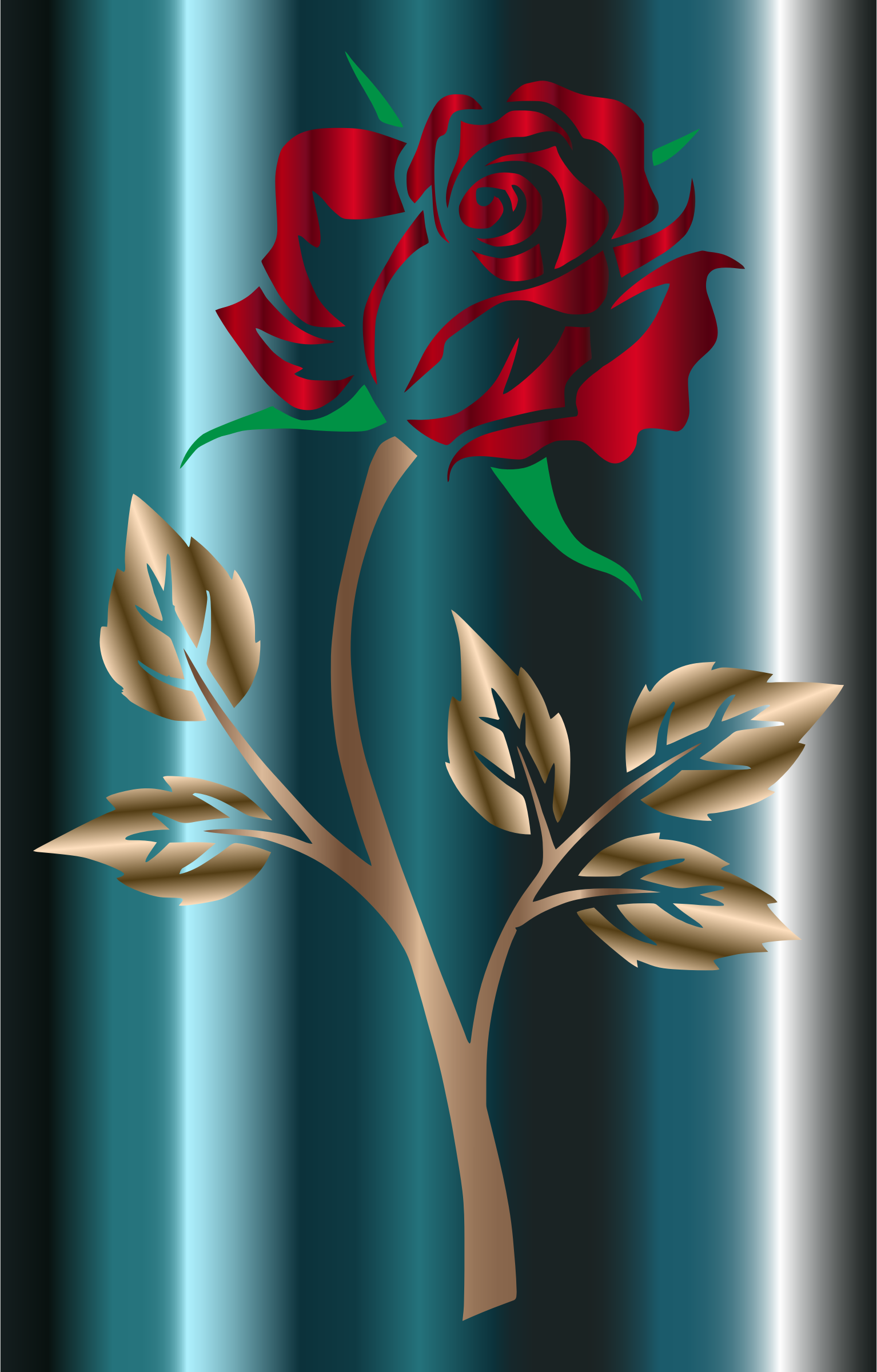 Colored Rose 3 by GDJ