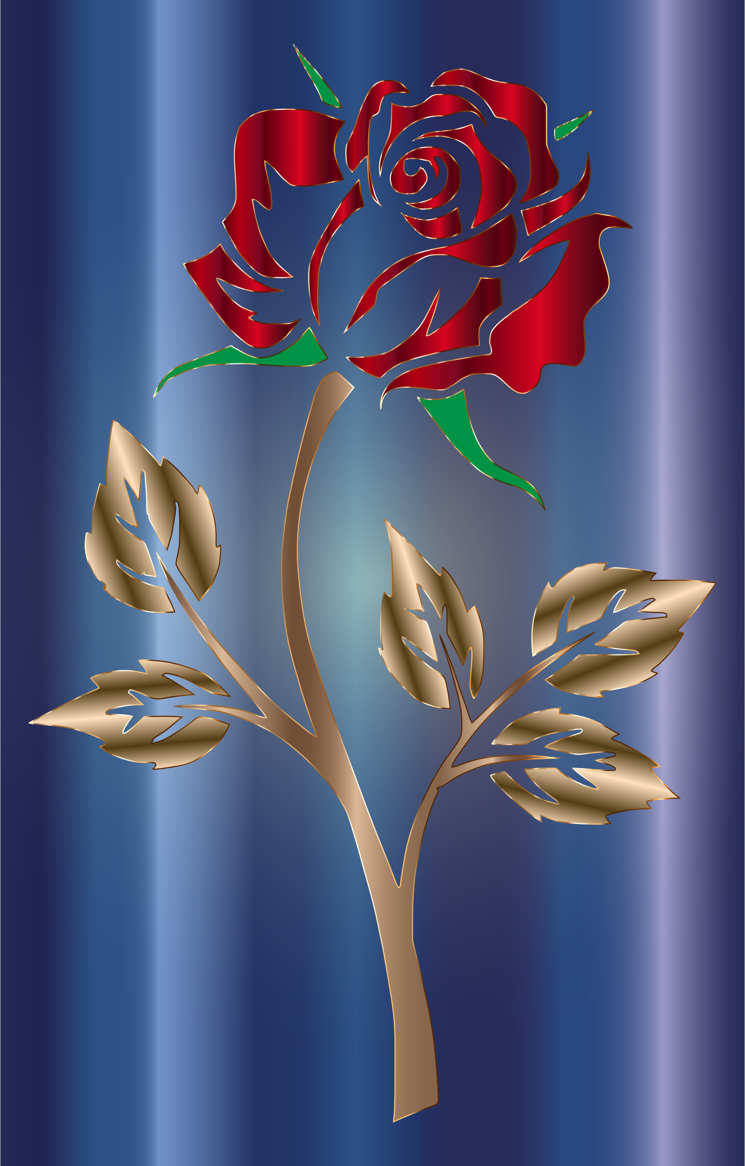 Colored Rose 5 by GDJ